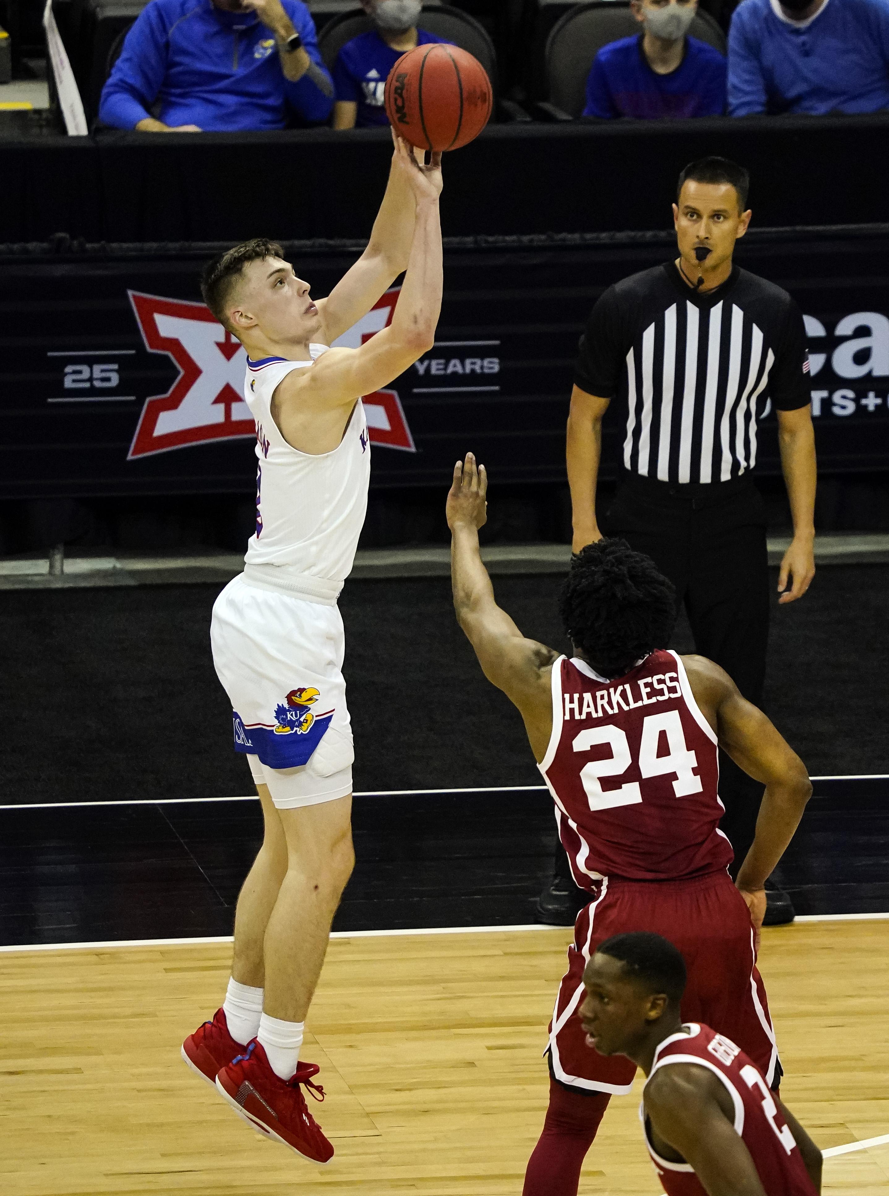 NCAA Basketball: Big 12 Conference Tournament-Oklahoma vs Kansas