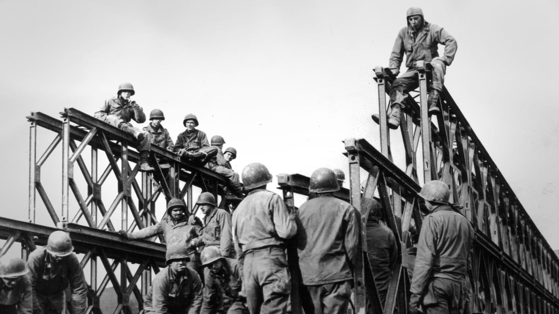 A Bailey bridge in use during World War II