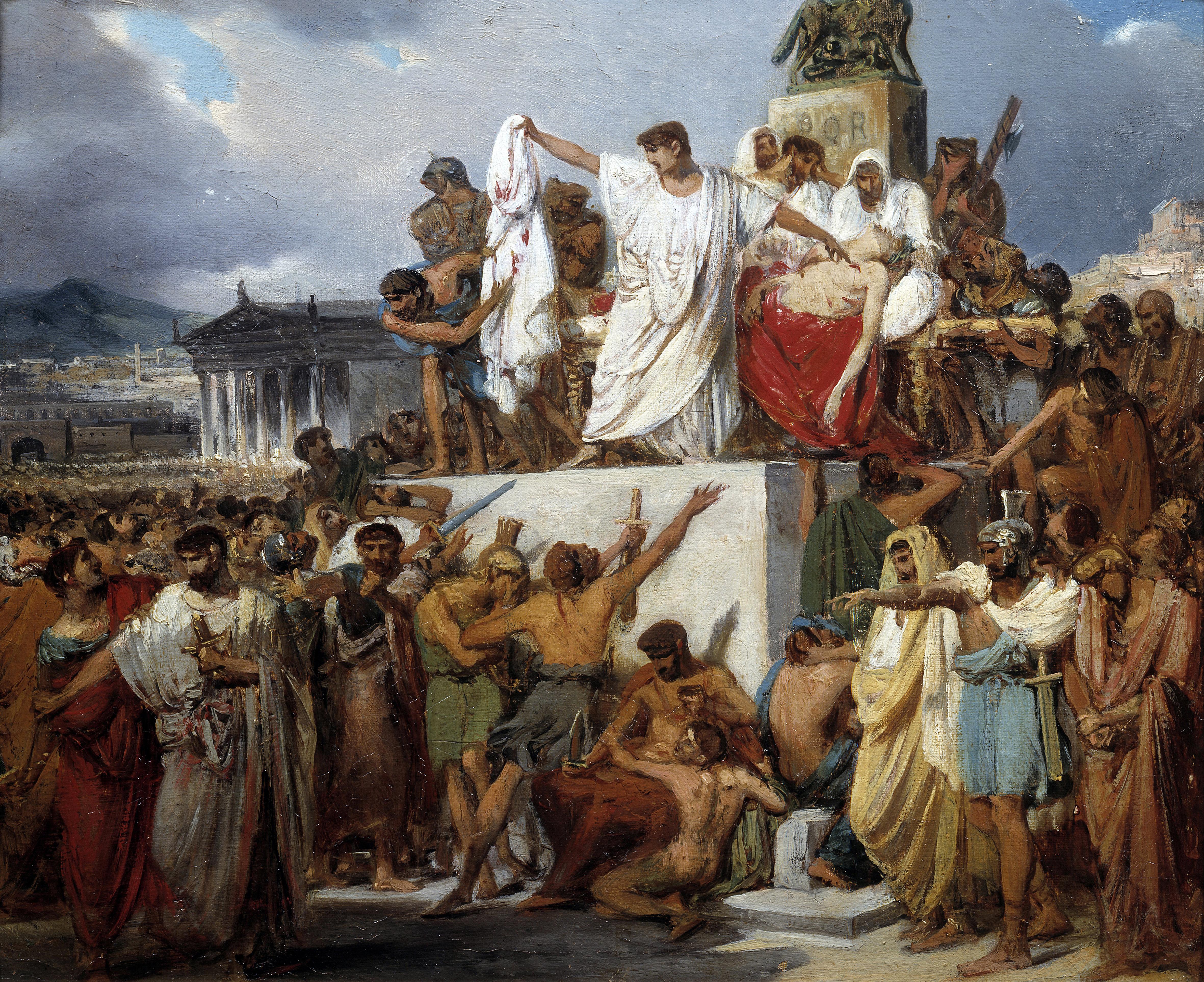 The death of Julius Caesar by Joseph Court