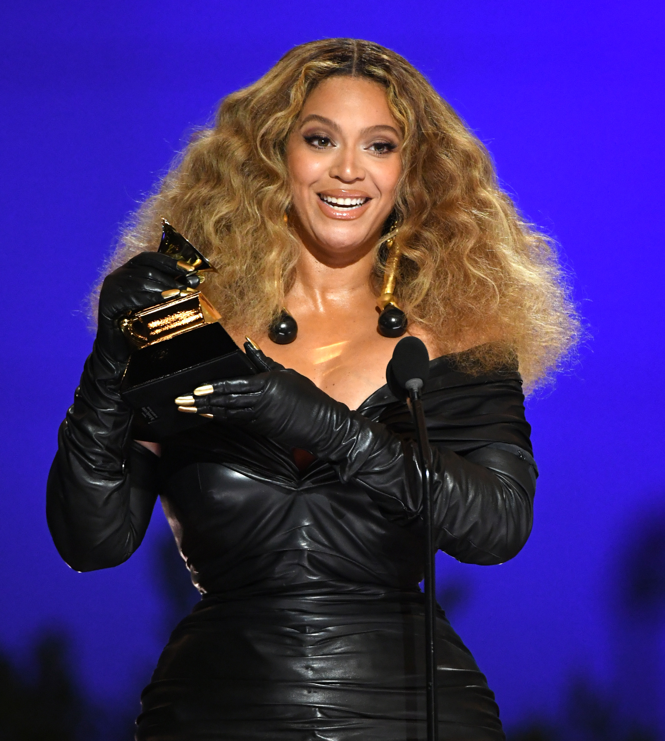 Beyonce at the 2021 Grammys.