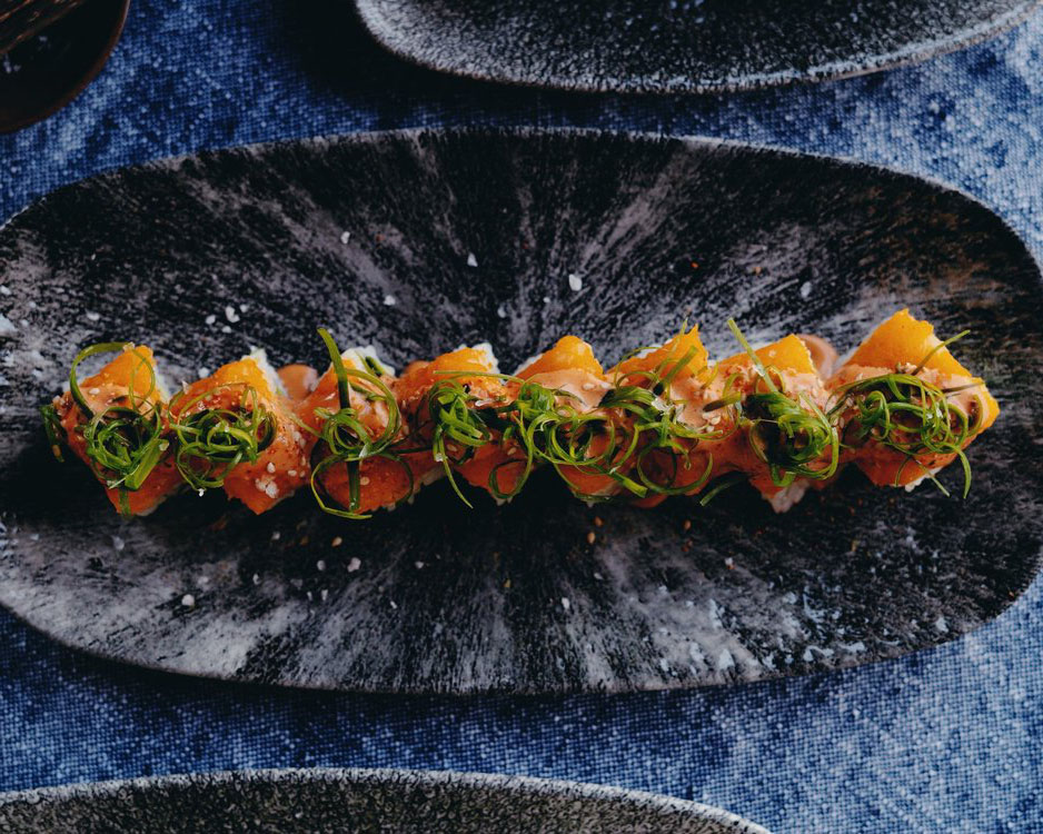 A picture of the Oasis sushi roll at Mitate