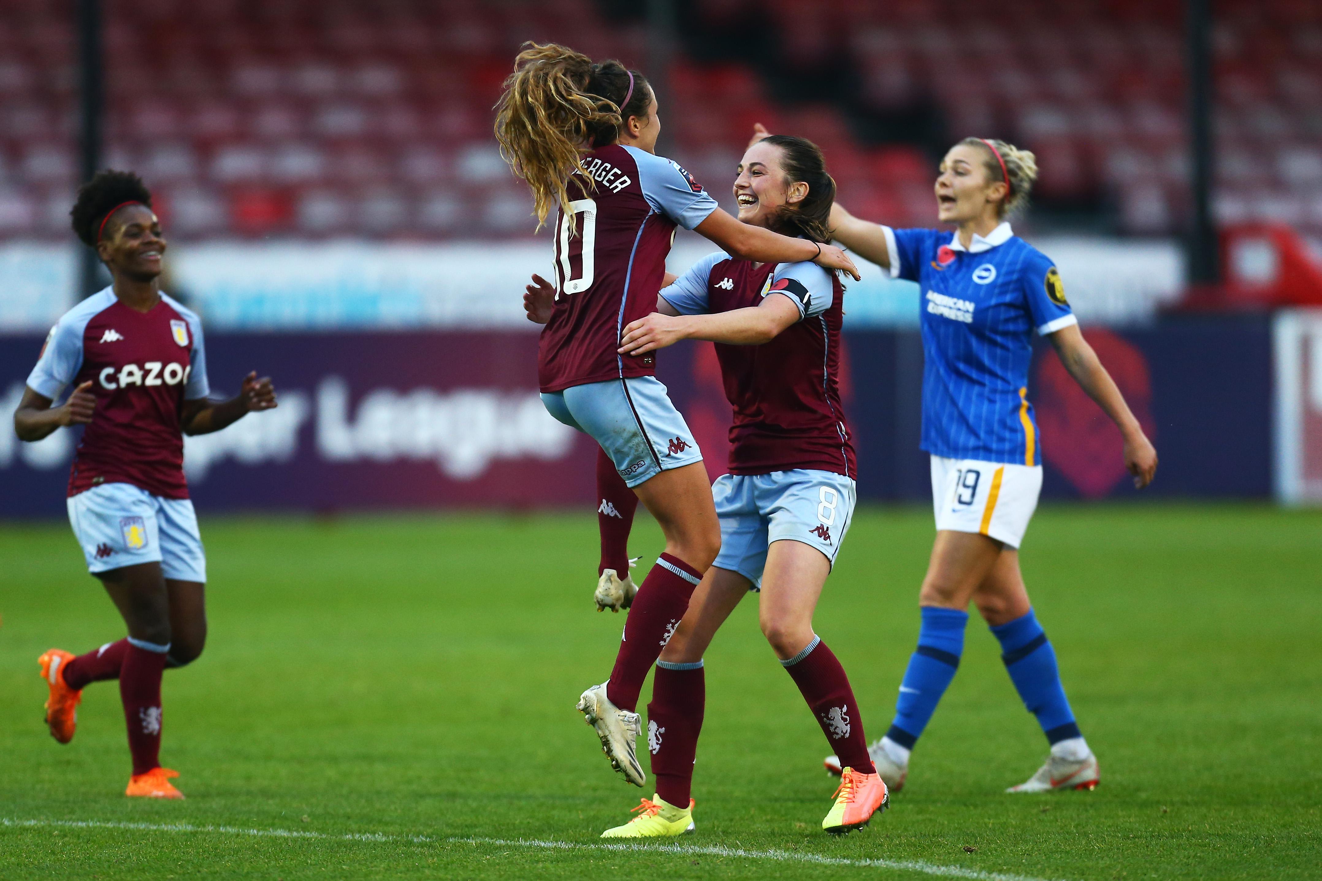 Brighton & Hove Albion Women v Aston Villa Women - Barclays FA Women's Super League