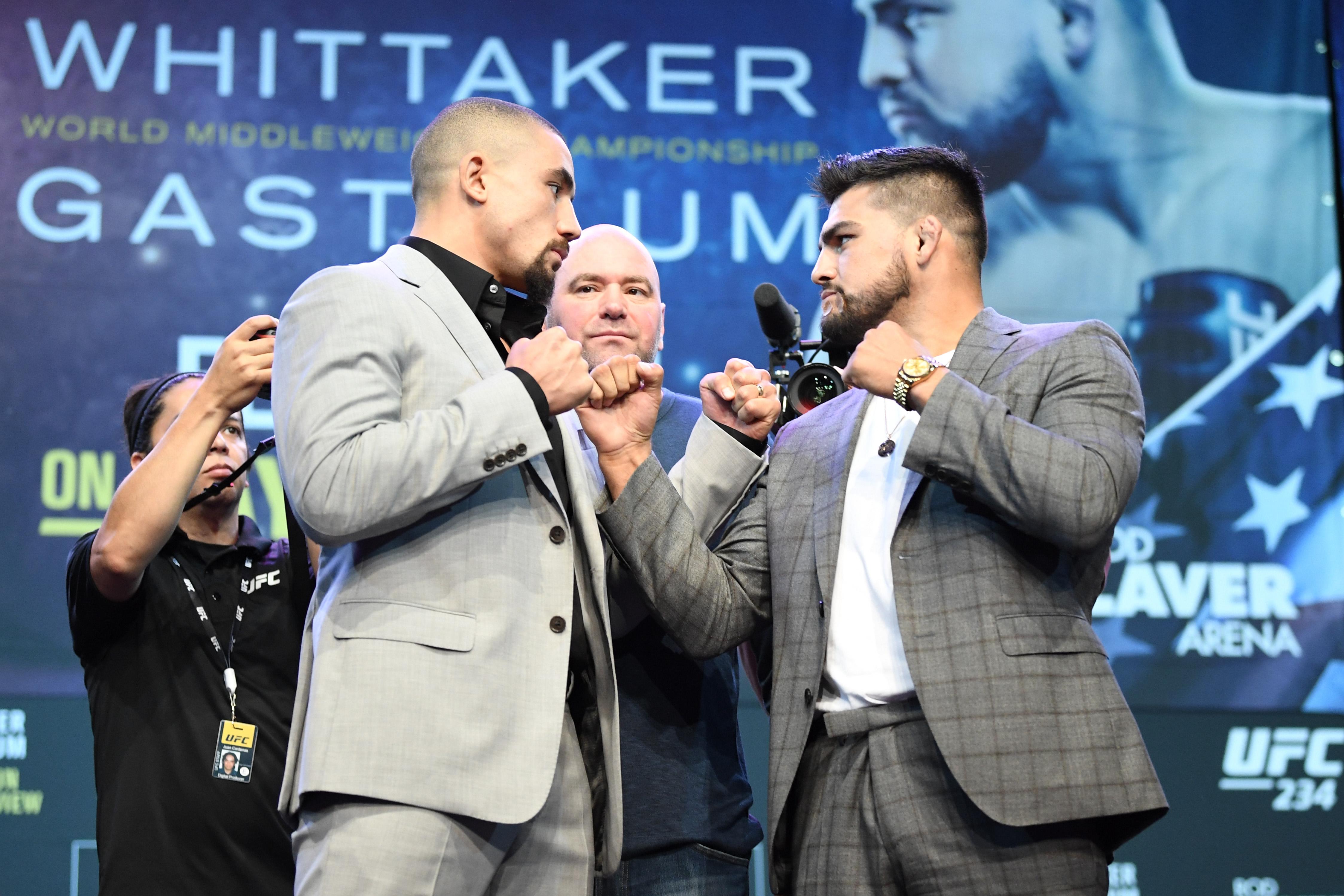 UFC 234 Whittaker v Gastelum: Press Conference