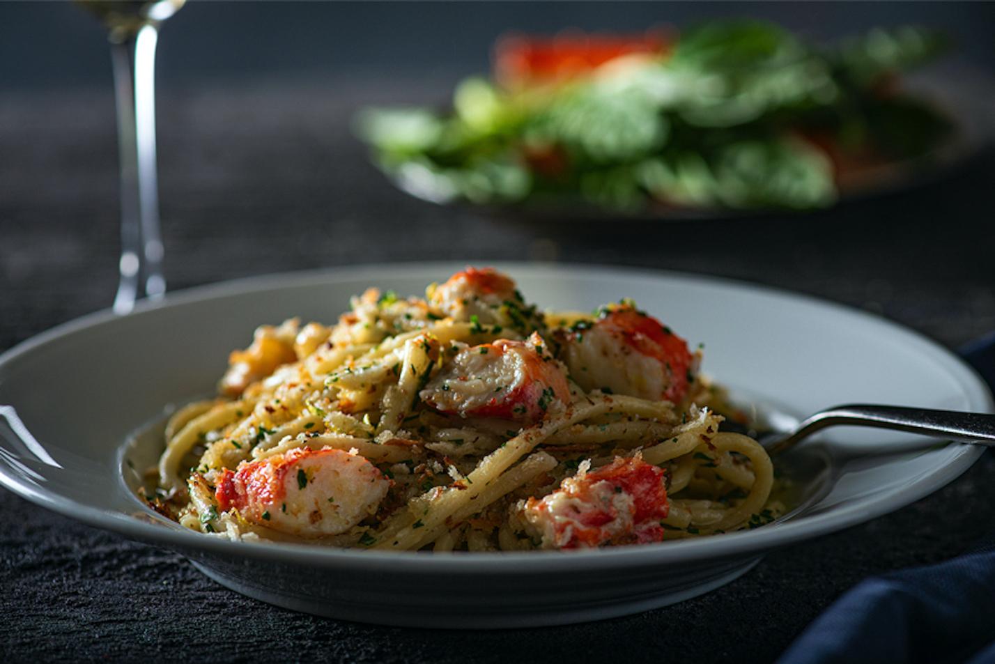 Alaskan king crab pasta