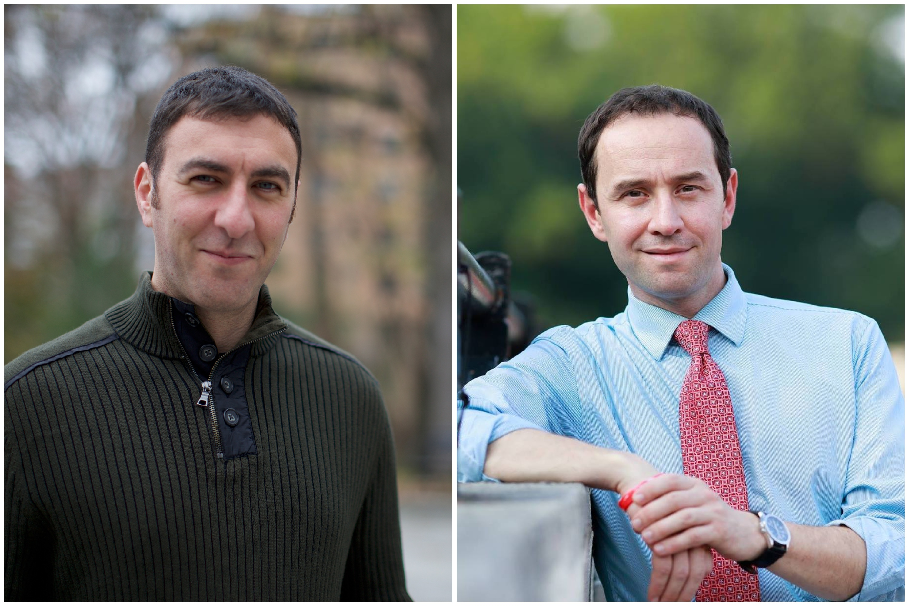 Bronx City Council candidates Eric Dinowitz, left, and Dan Padernacht.