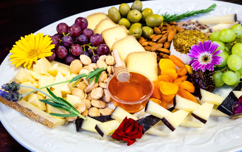 A cheese board