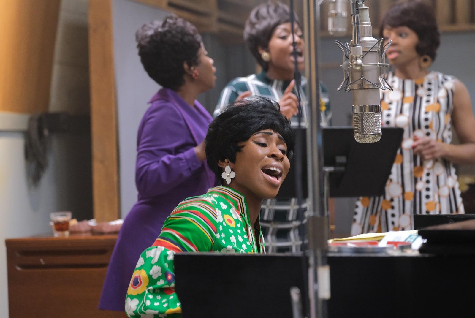 Cynthia Erivo performs as Aretha Franklin in Genius: Aretha