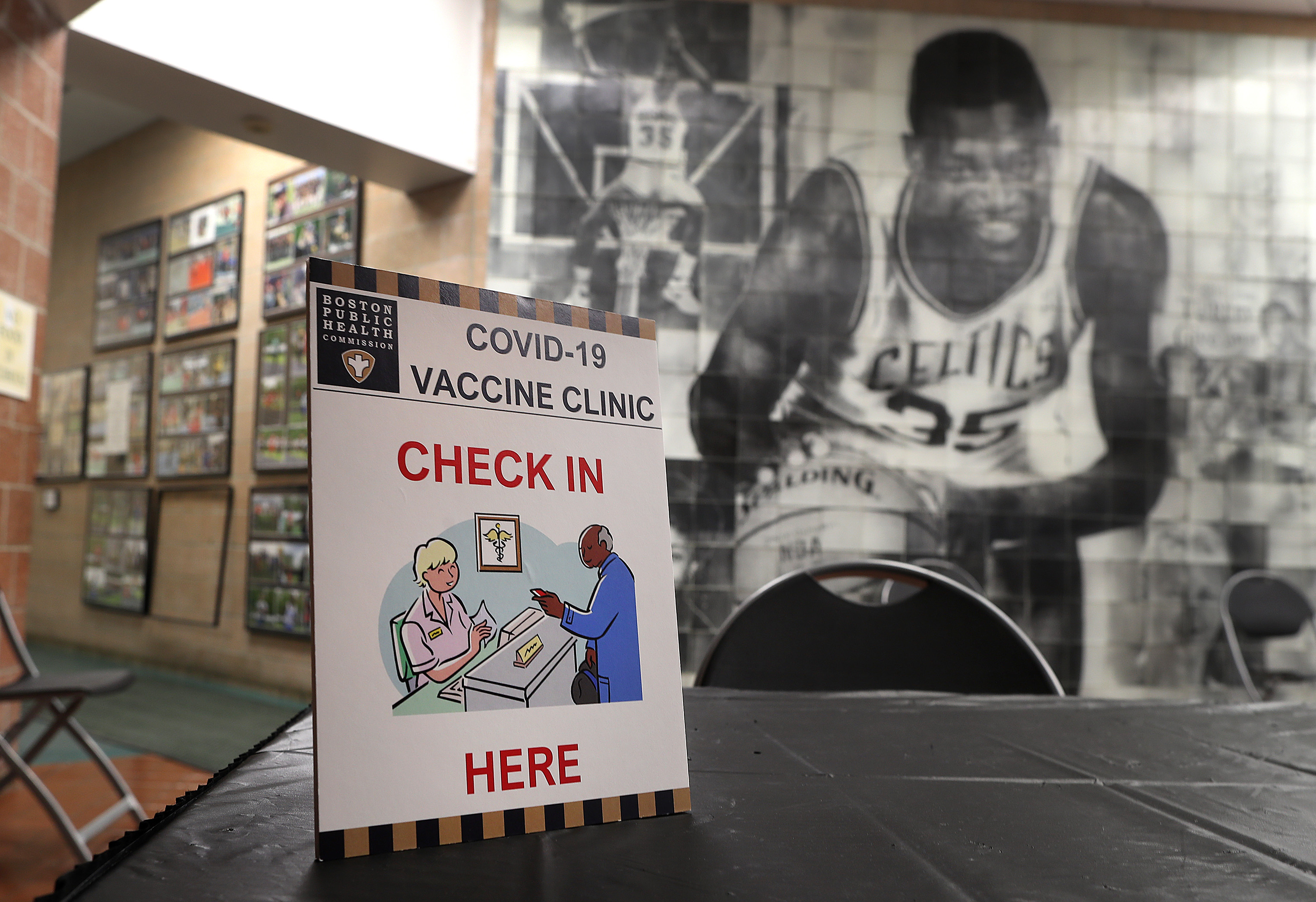 Vaccinations at The Reggie Lewis Center