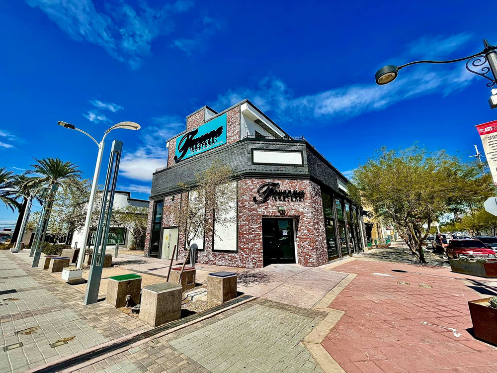 """The exterior of """"coastal Mediterranean fusion"""" restaurant Taverna Costera, opening soon in the Arts District."""
