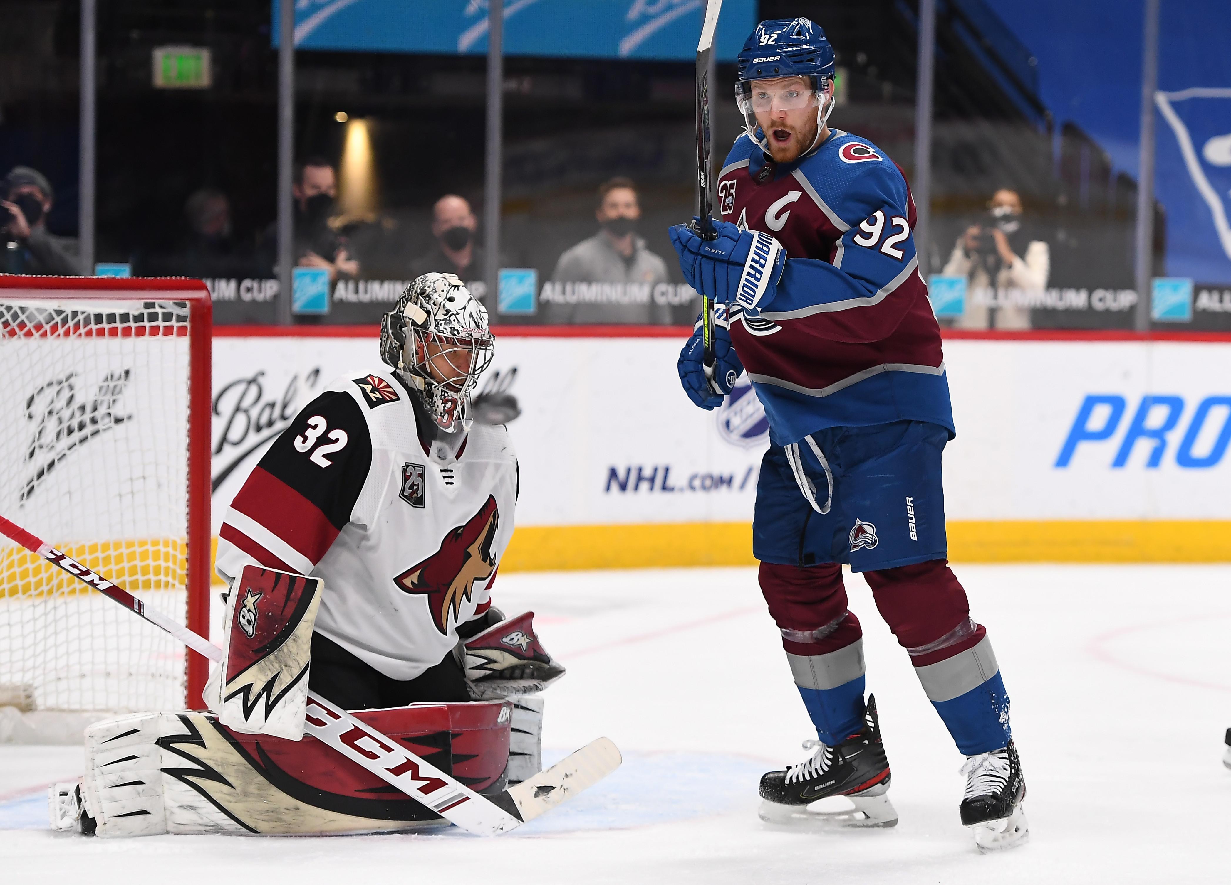 NHL: Arizona Coyotes at Colorado Avalanche
