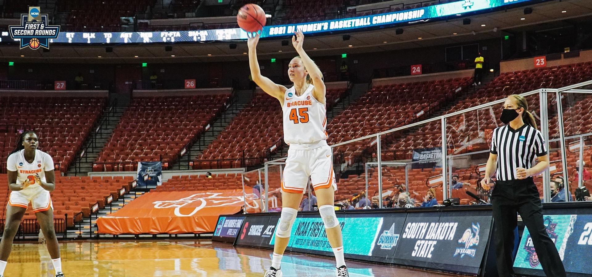 3.21.21 | Syracuse women's basketball at NCAA Tournament versus South Dakota State