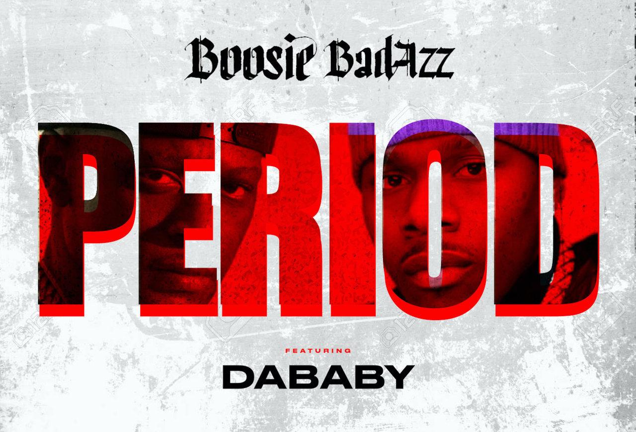 "Boosie Badazz and DaBaby's ""Period"" artwork"