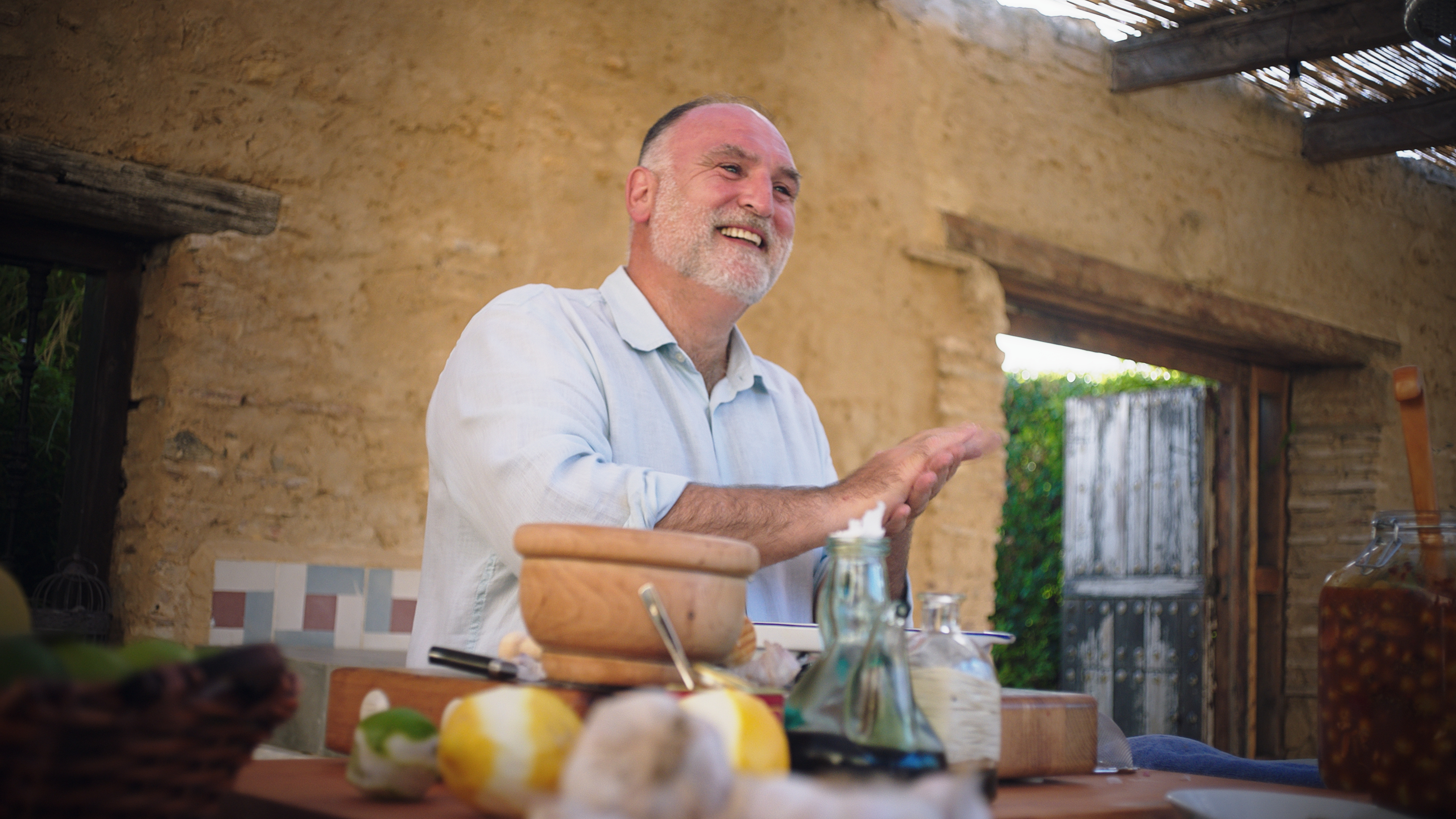 José Andrés starred in a short film Panera shot in Spain to raise awareness for food insecurity