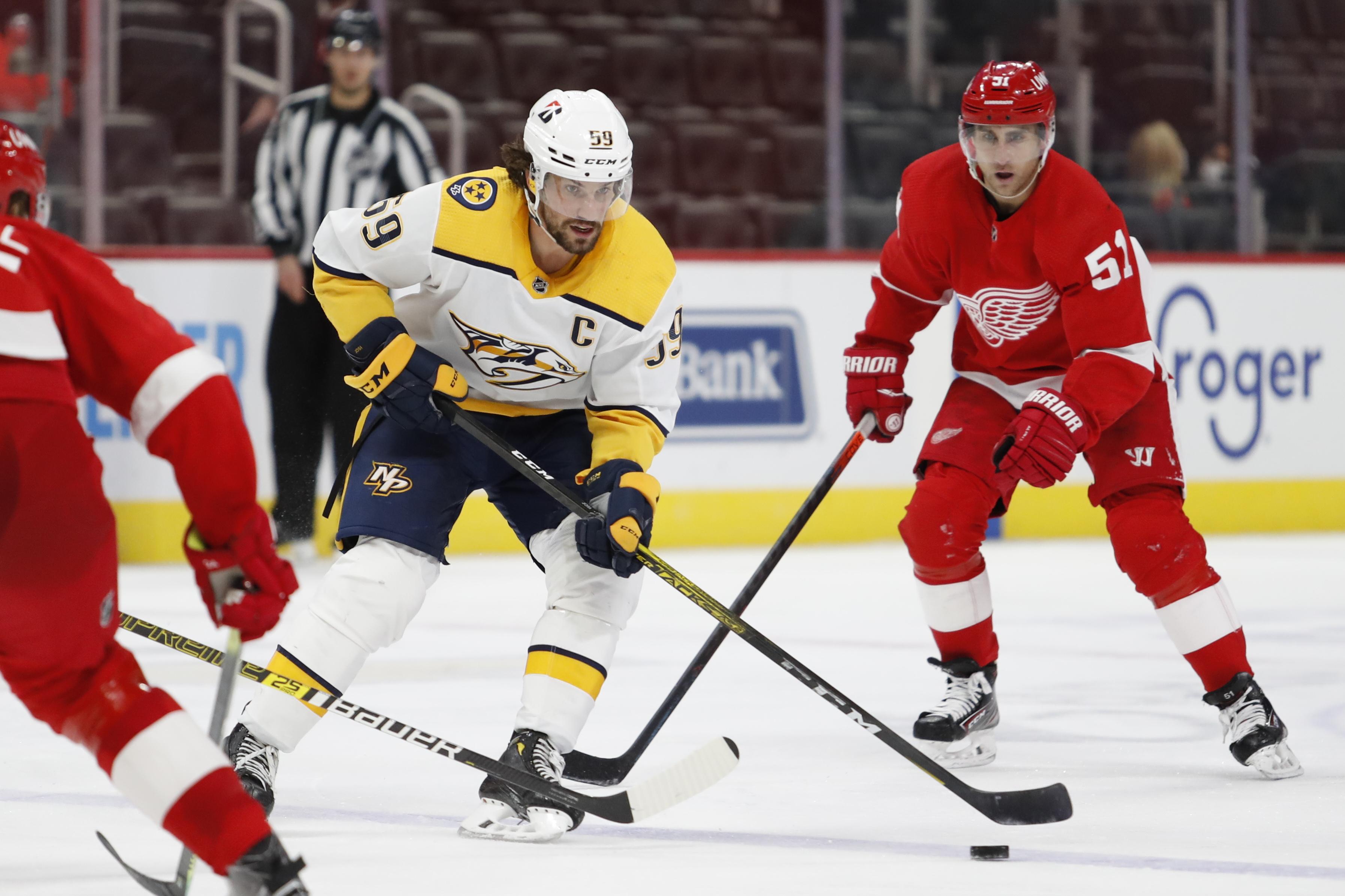 NHL: Nashville Predators at Detroit Red Wings