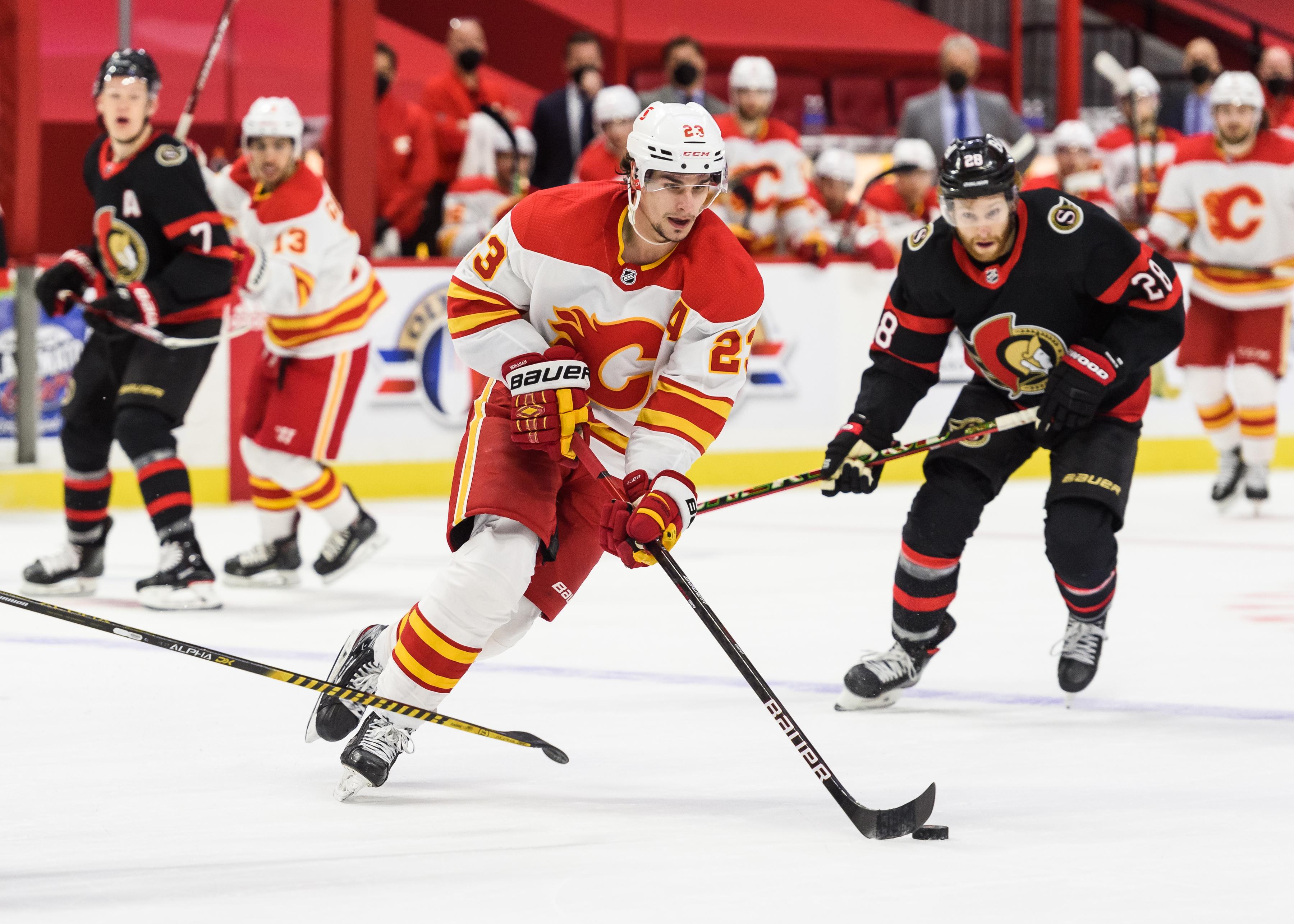 NHL: MAR 22 FLAMES AT SENATORS