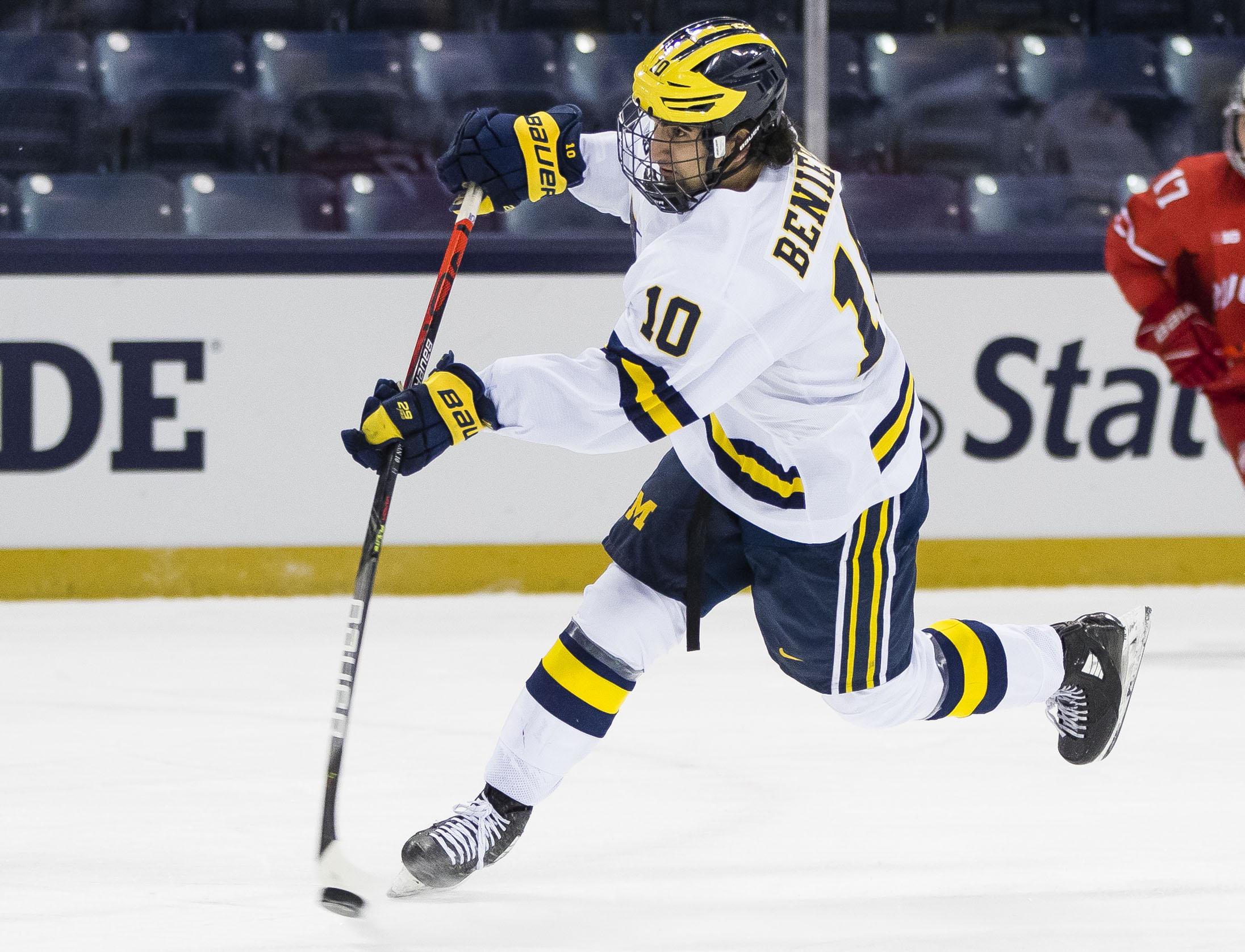 NCAA Hockey: Big Ten Hockey Tournament-Michigan vs Ohio State