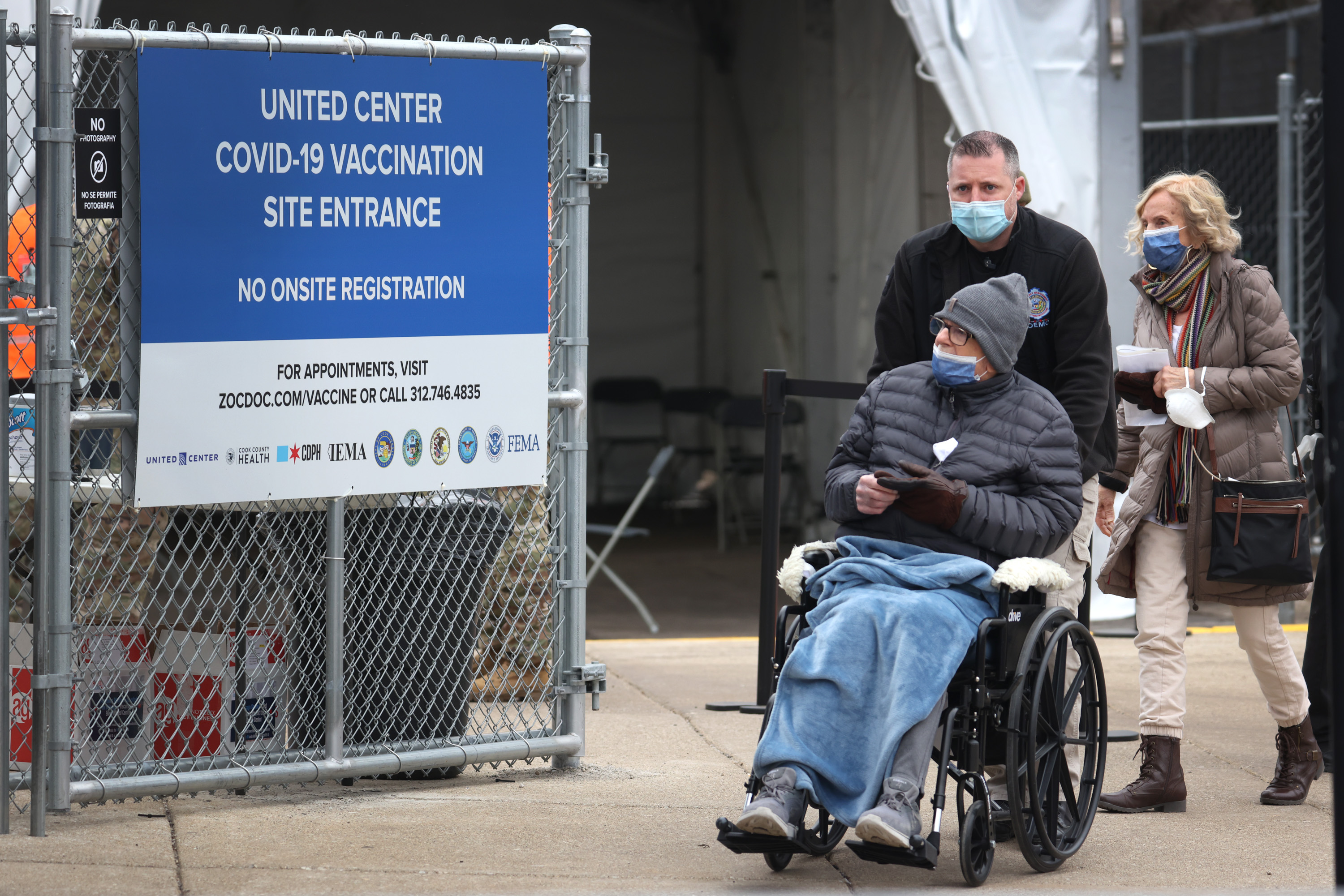 Chicago's United Center Opens As Mass Vaccination Site