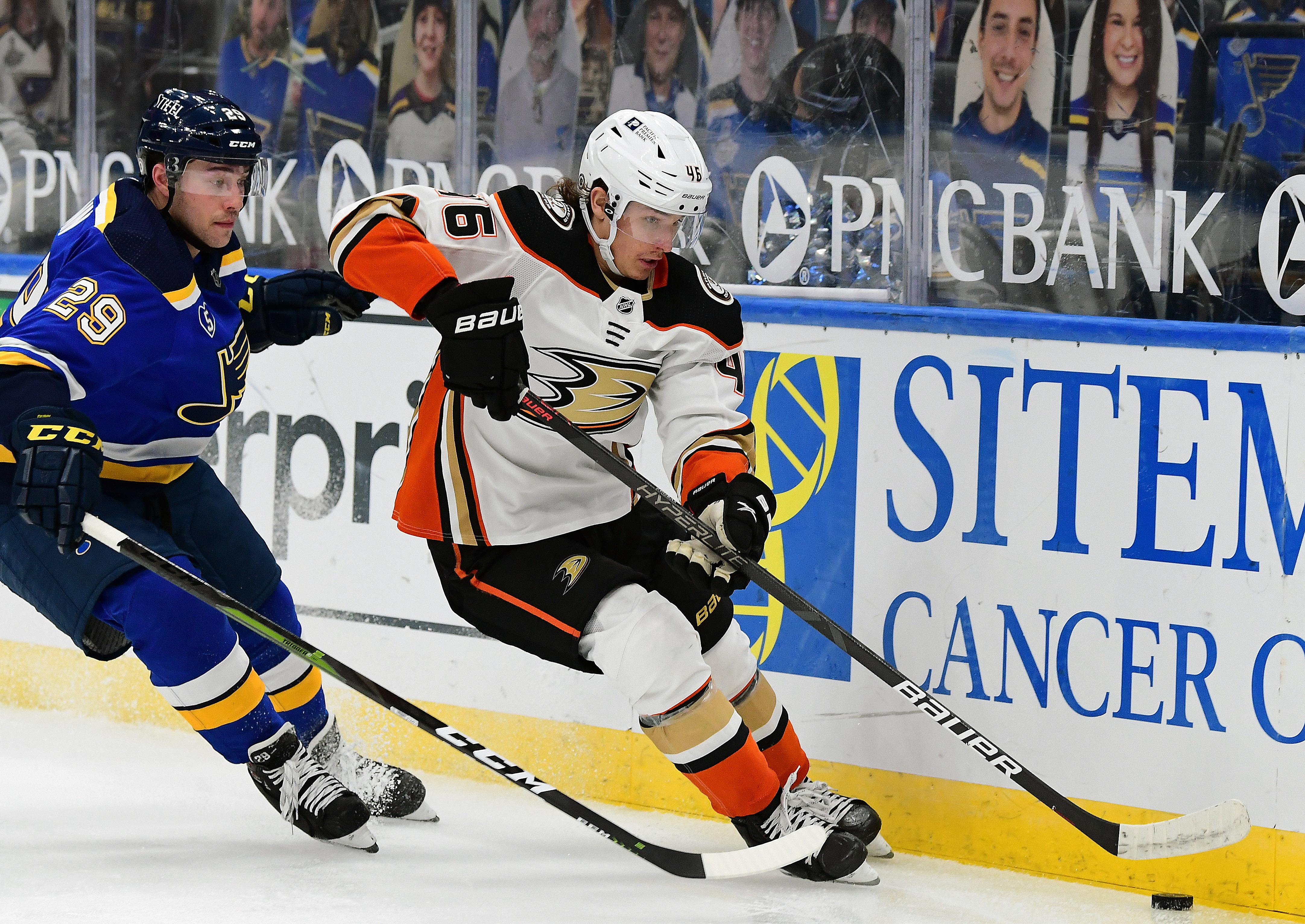 NHL: MAR 26 Ducks at Blues