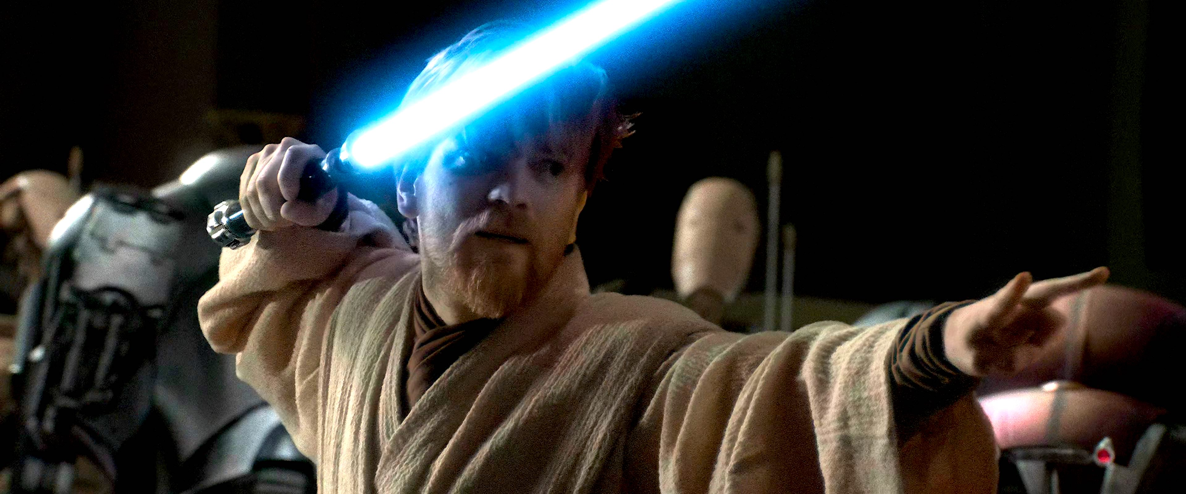 Obi-Wan fighting General Grievous in Revenge of the Sith