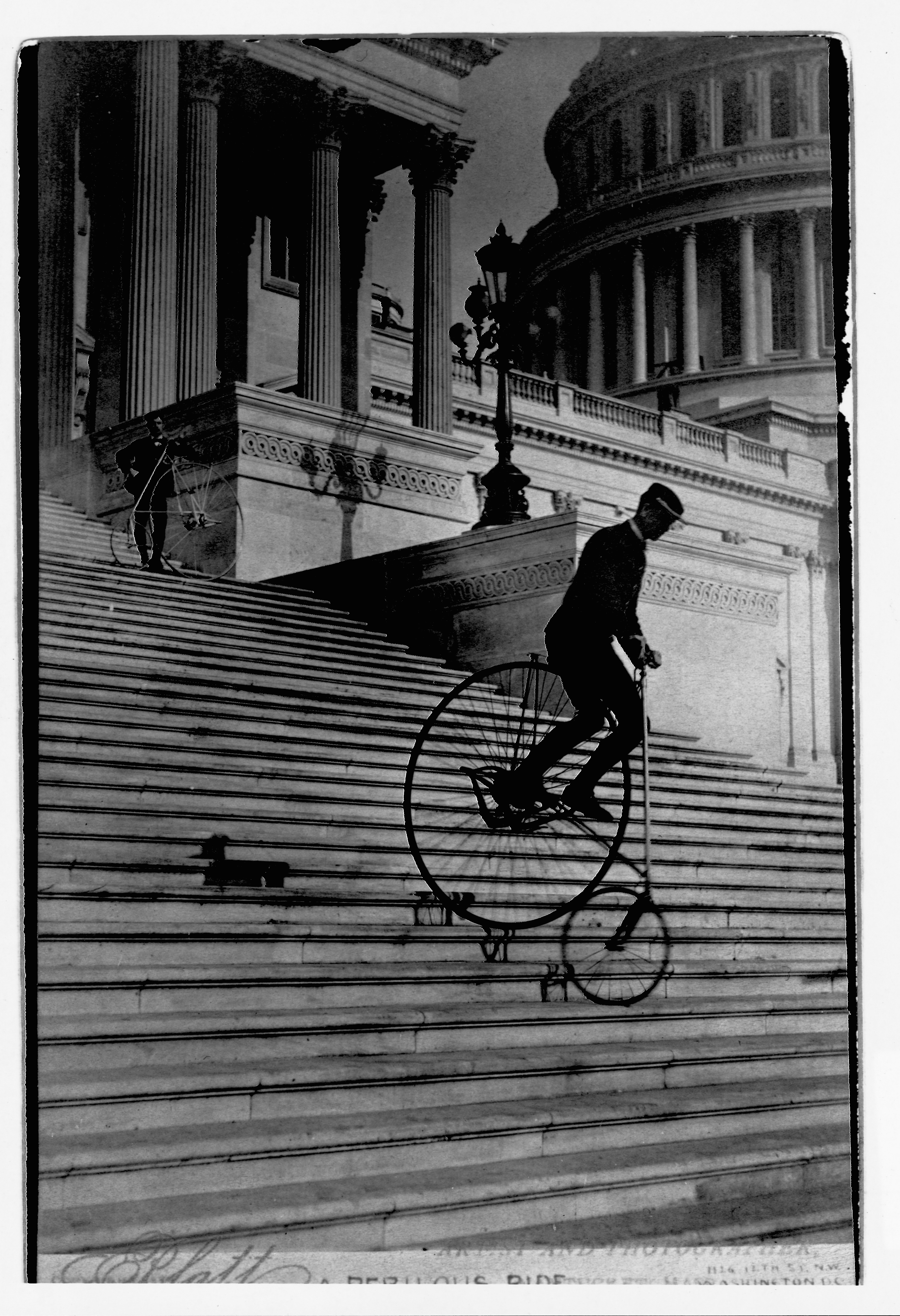 Bicycling Down Capitol Steps