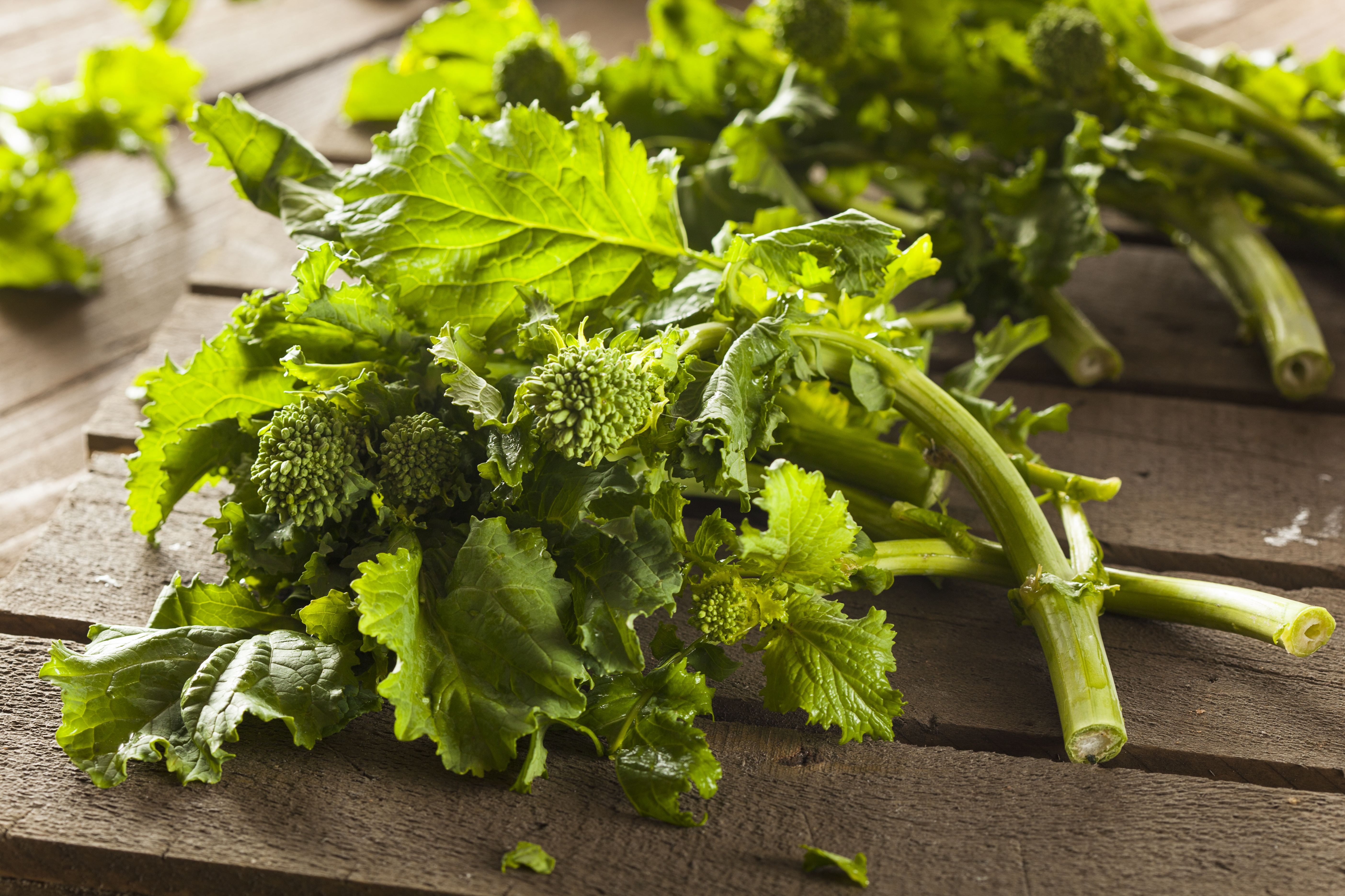 Embrace bitter foods such as rapini. They're good and good for your overall health.