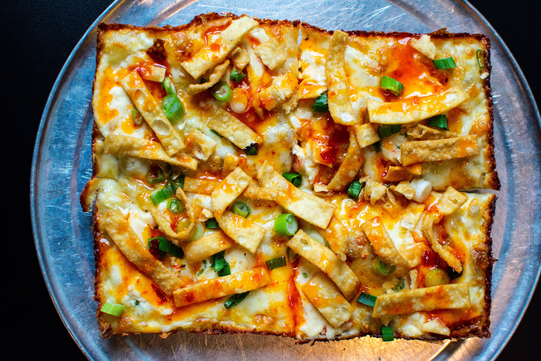 Via 313 and Tso Chinese Delivery's crab rangoon pizza