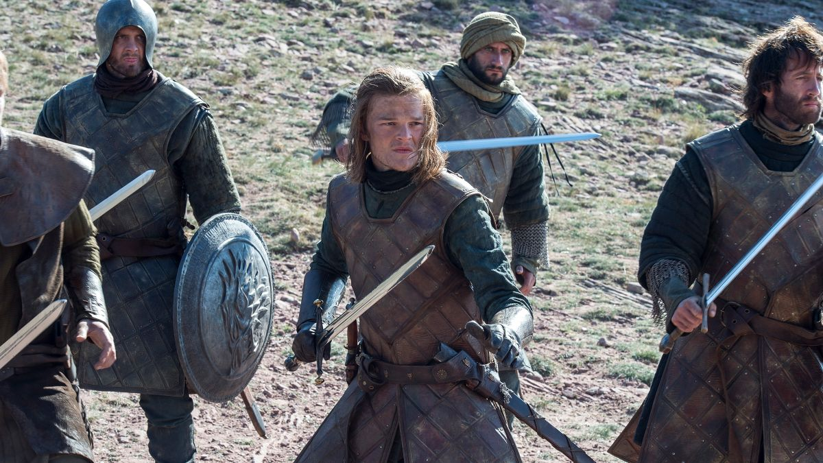 A young Ned Stark in Game of Thrones at the Tower of Joy