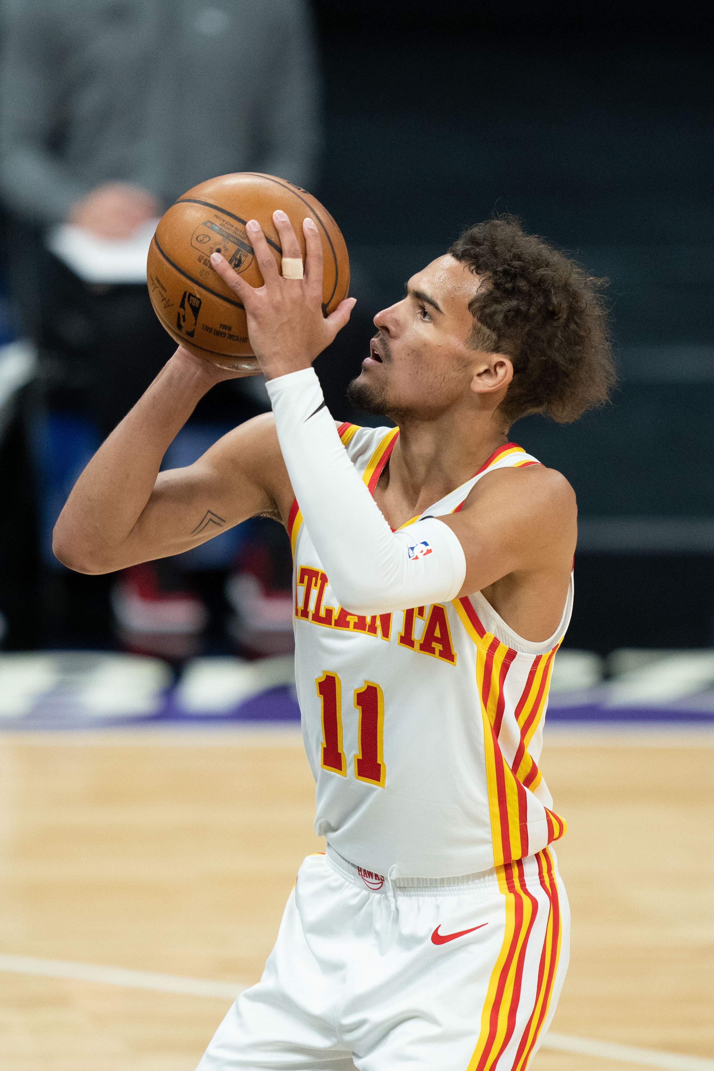 Atlanta Hawks guard Trae Young during the first quarter against the Sacramento Kings at Golden 1 Center.