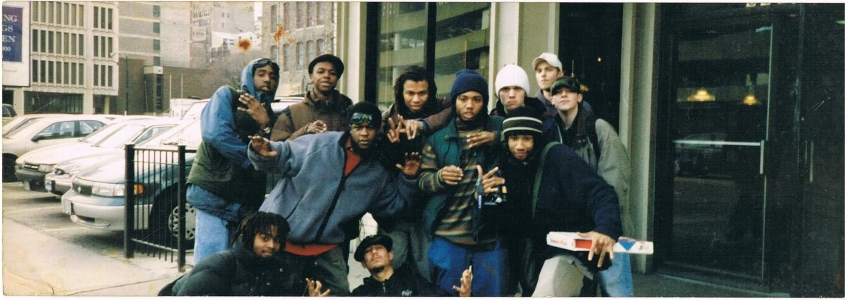 The South Side hip-hop collective Nacrobats hosted parties for teenagers and young adults in the 1990s.