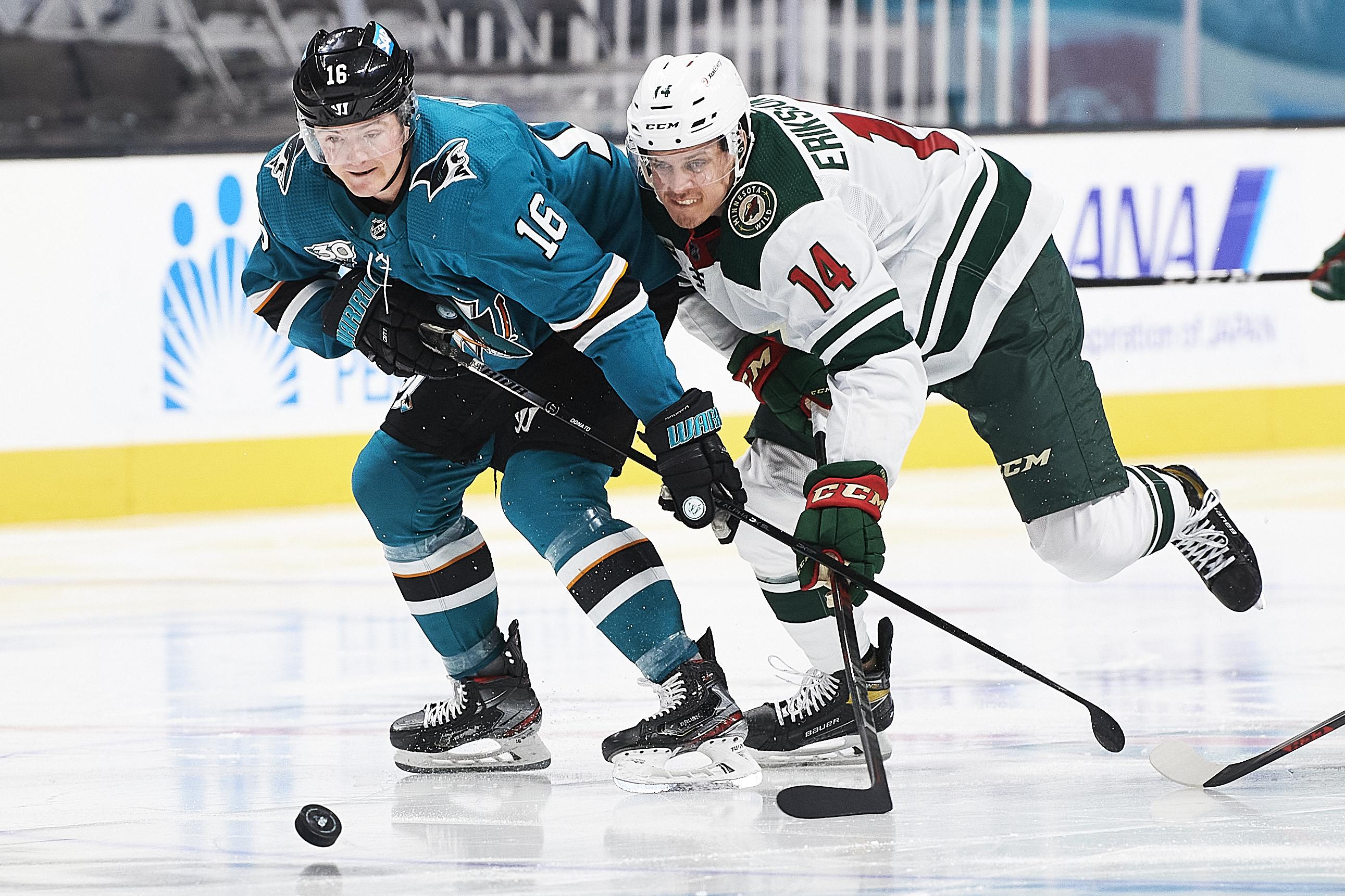 NHL: MAR 29 Wild at Sharks