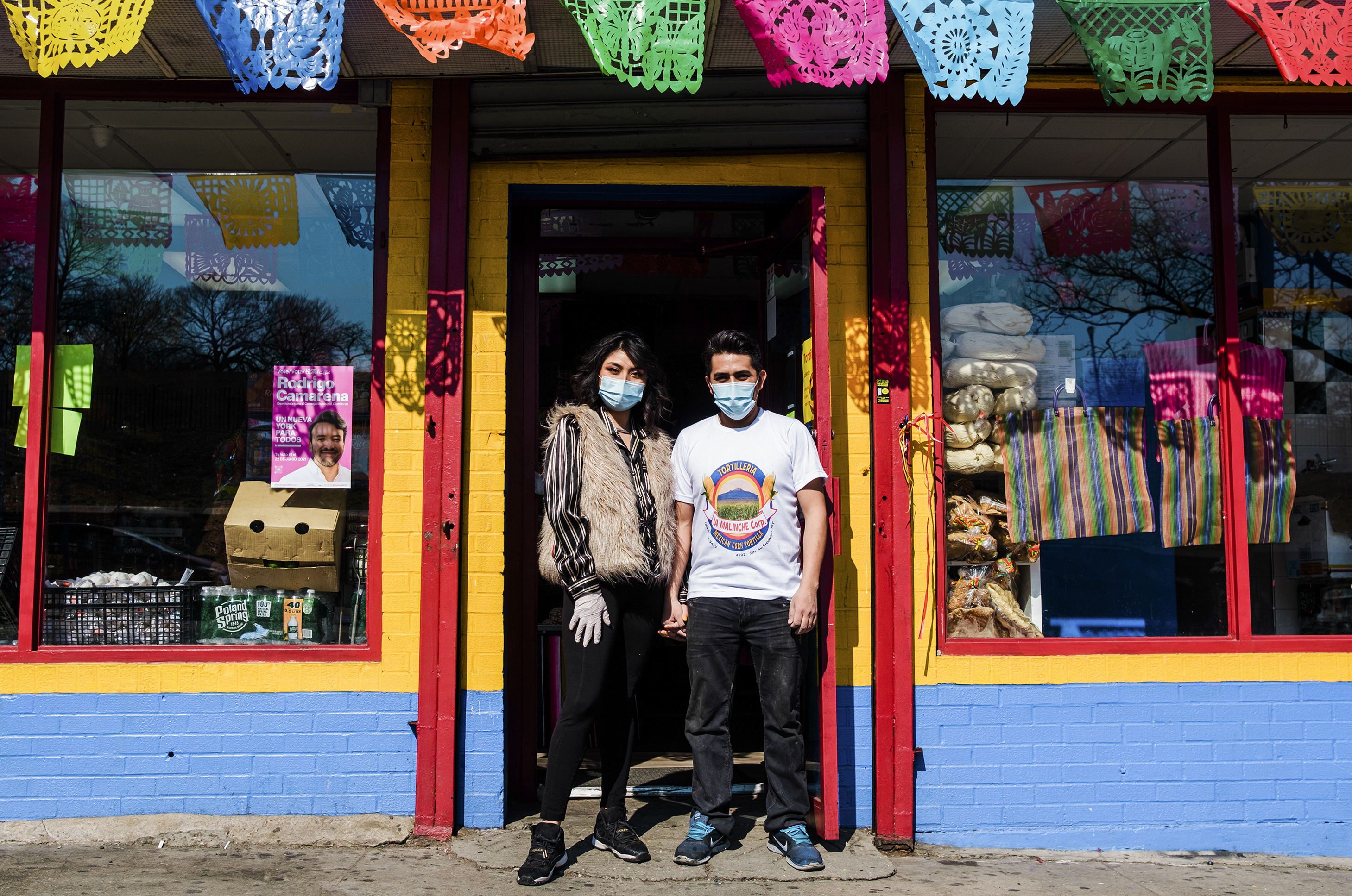 Ilsel Garcia and Jesus Delgada secured the storefront for their Tortilleria La Malinche last summer, and opened in February.