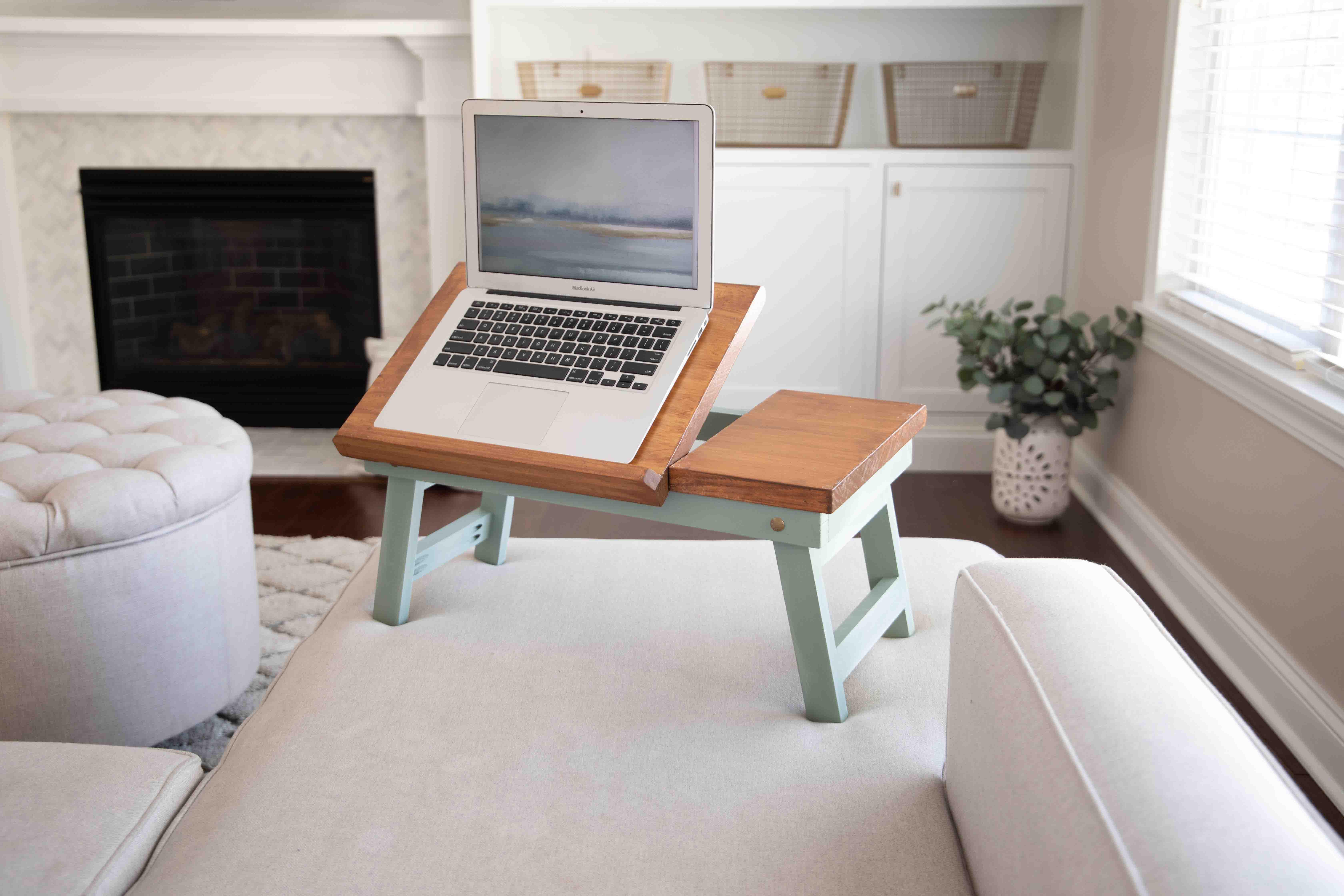 DIY folding laptop table