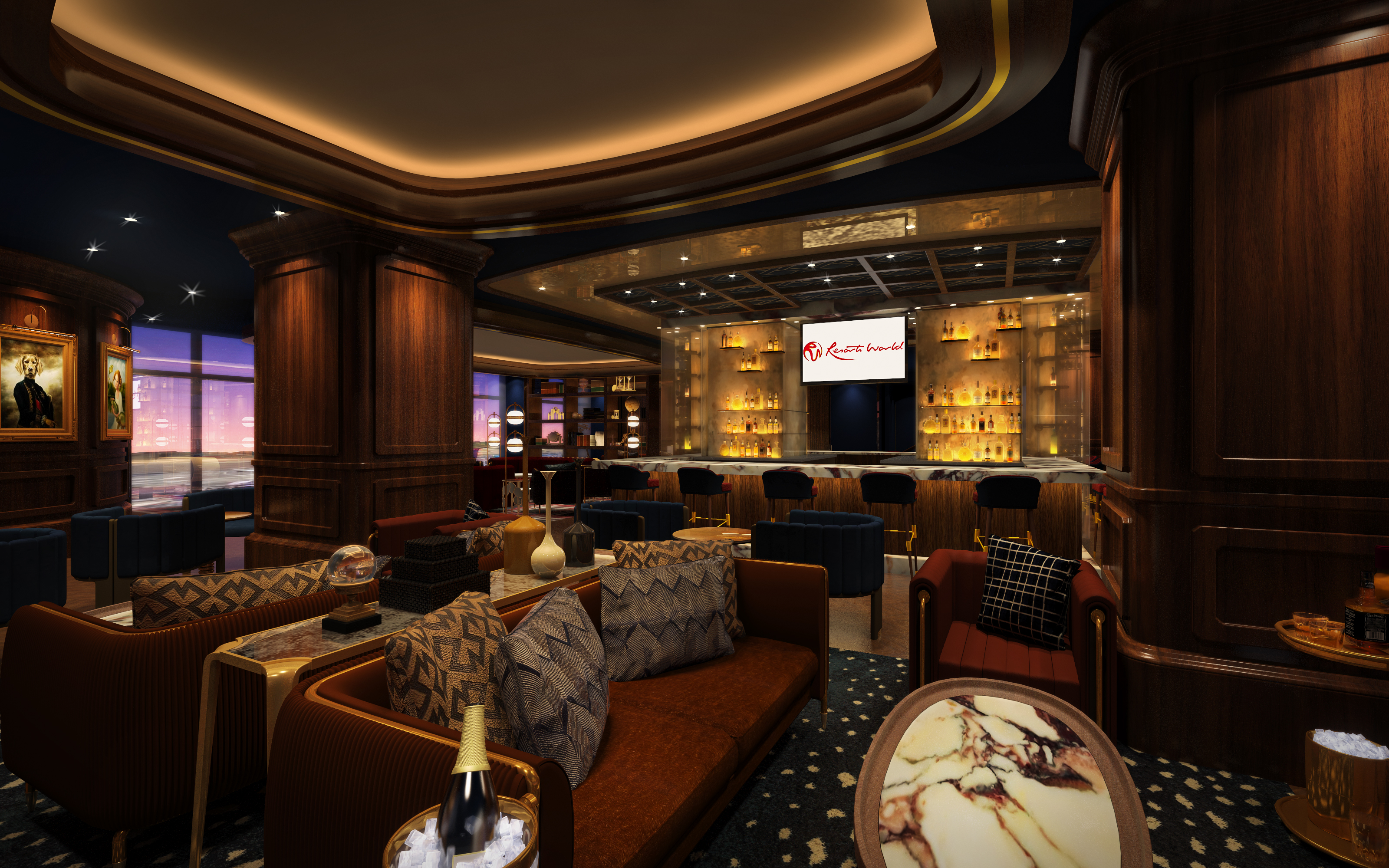 A rendering of the lounge at Starlight on 66