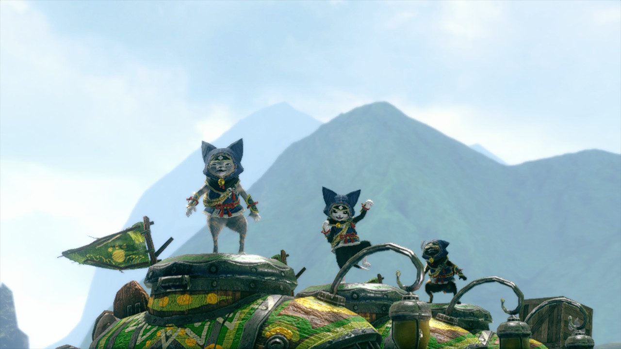 Submarine cats dance in Monster Hunter Rise after Economic Stimulation Request