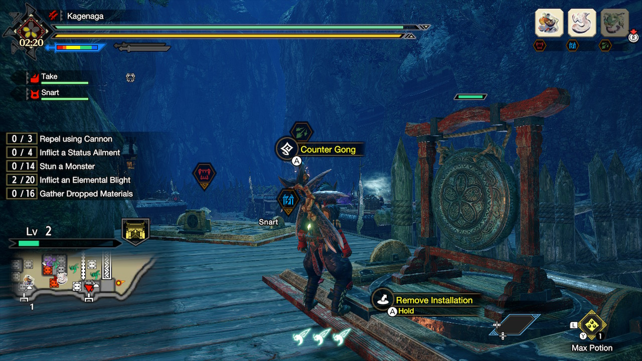 Monster Hunter Rise Rampage counter gong