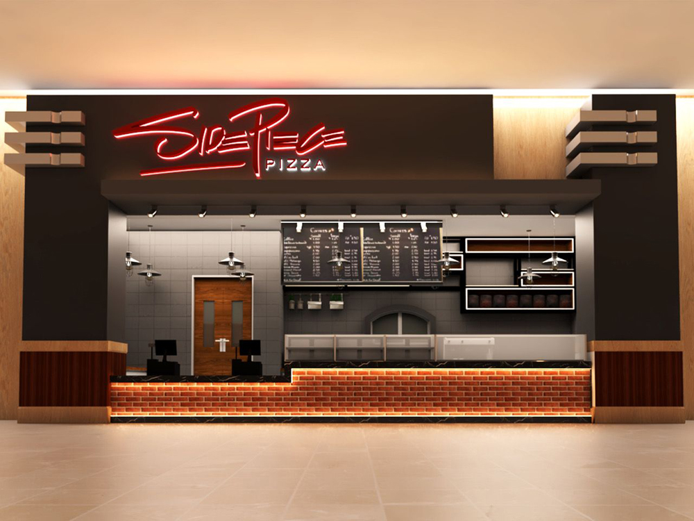 Rendering of the new Side Piece Pizza, headed to the Red Rock Casino Resort & Spa's food court.