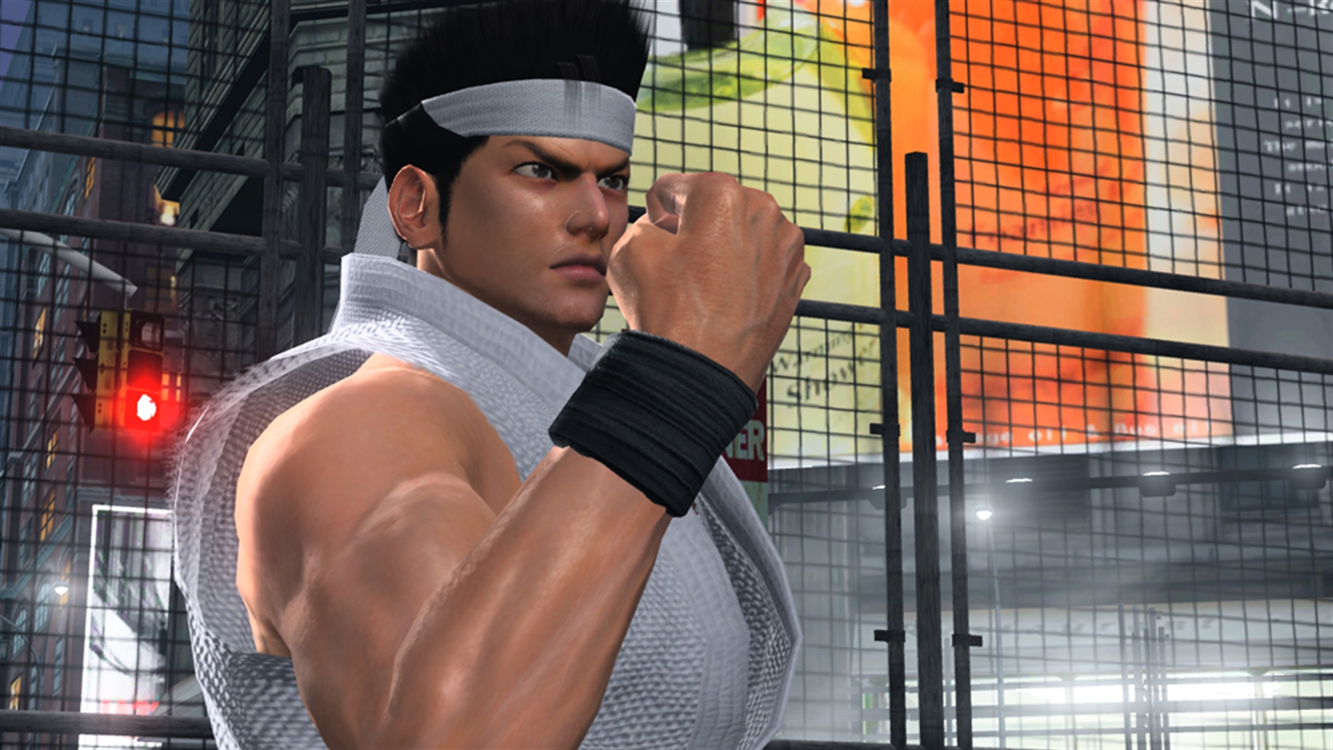 Akira poses in a screenshot from Virtua Fighter 5