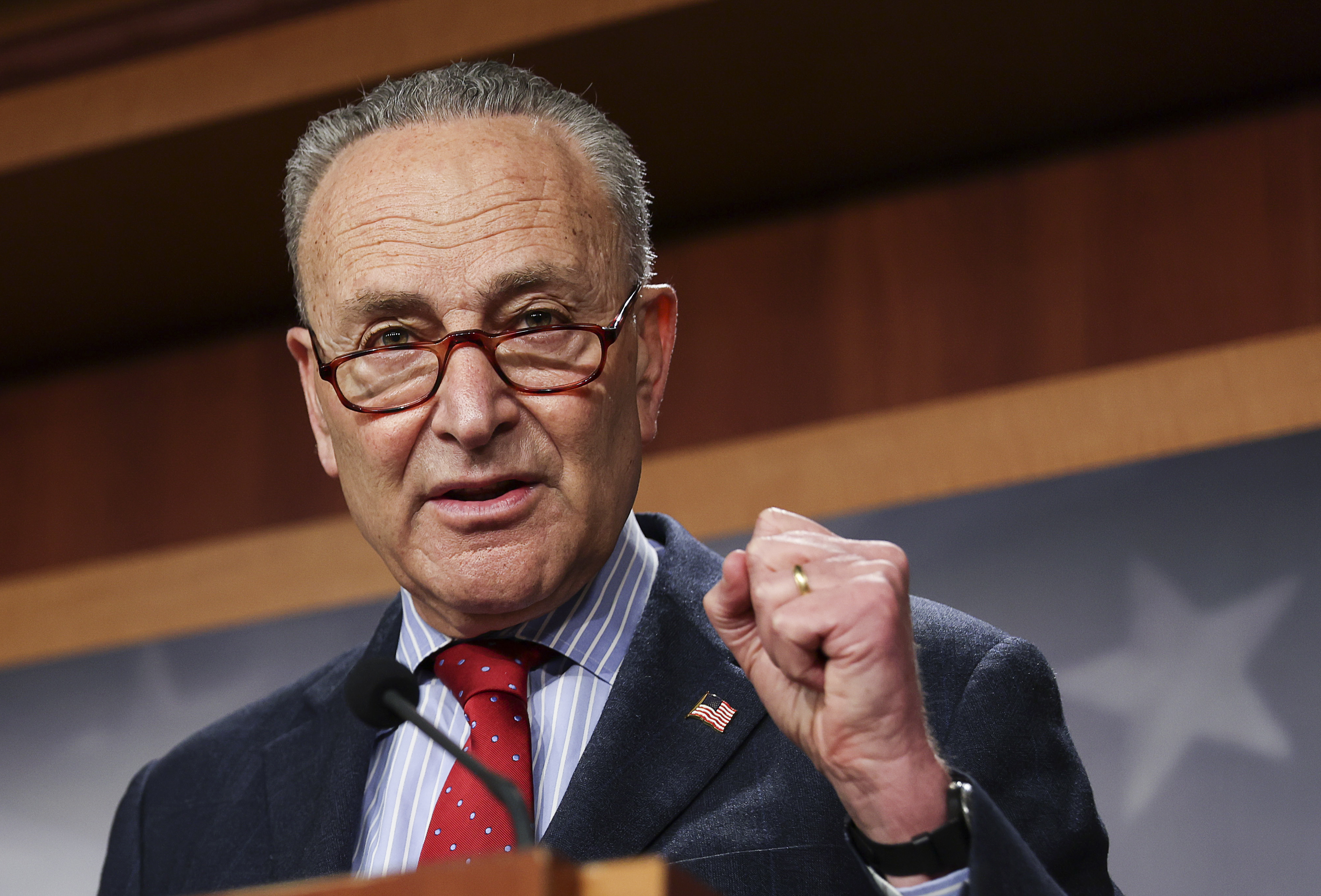 Majority Leader Schumer Holds Press Conference On Senate Business