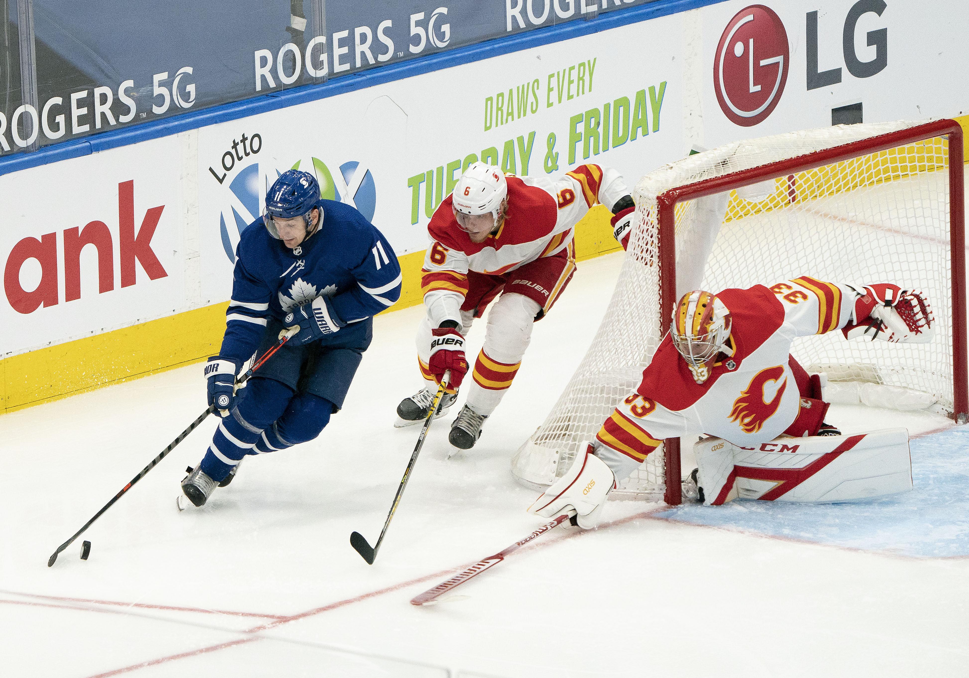 NHL: Calgary Flames at Toronto Maple Leafs