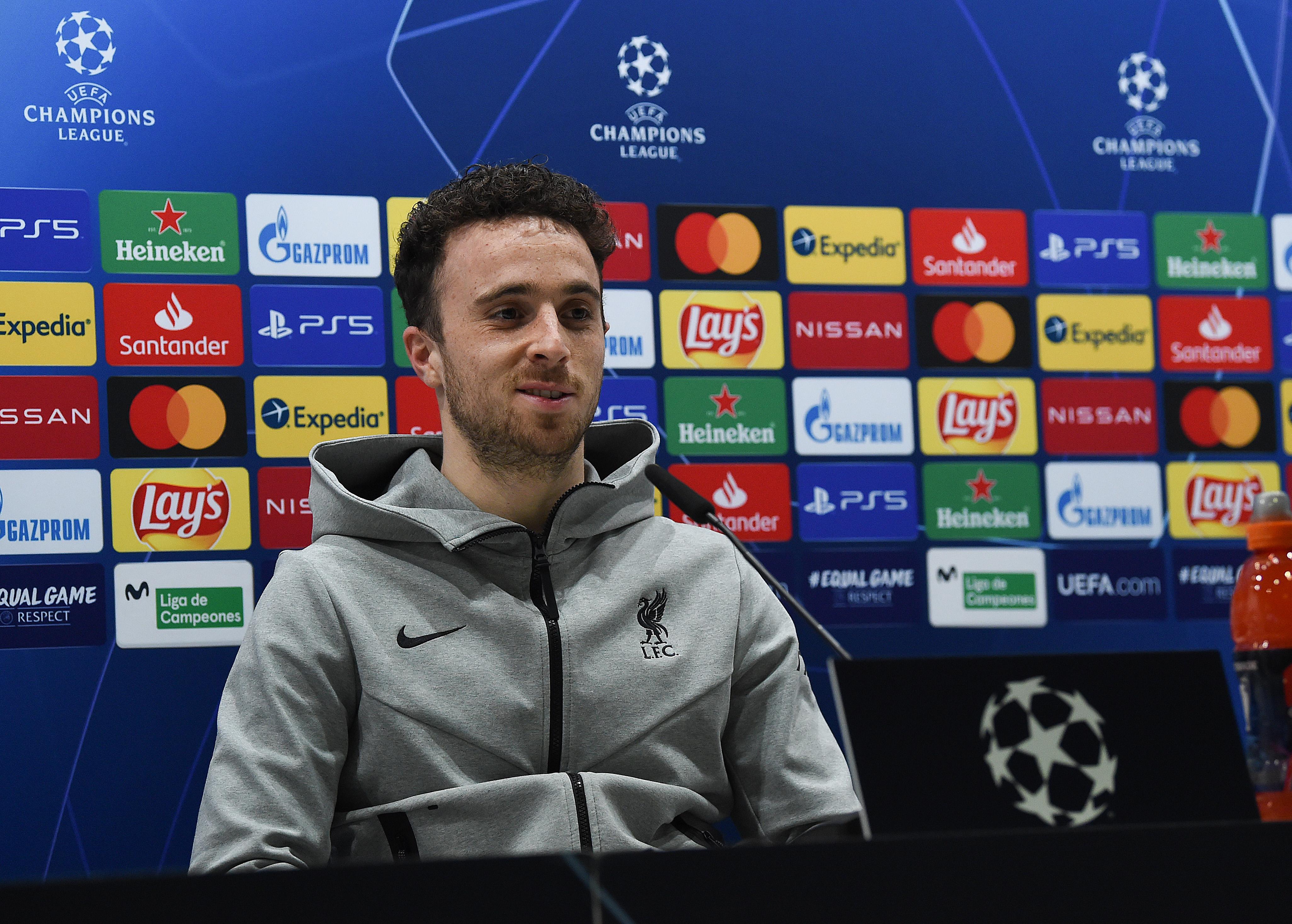 Diogo Jota - Liverpool Press Conference - UEFA Champions League