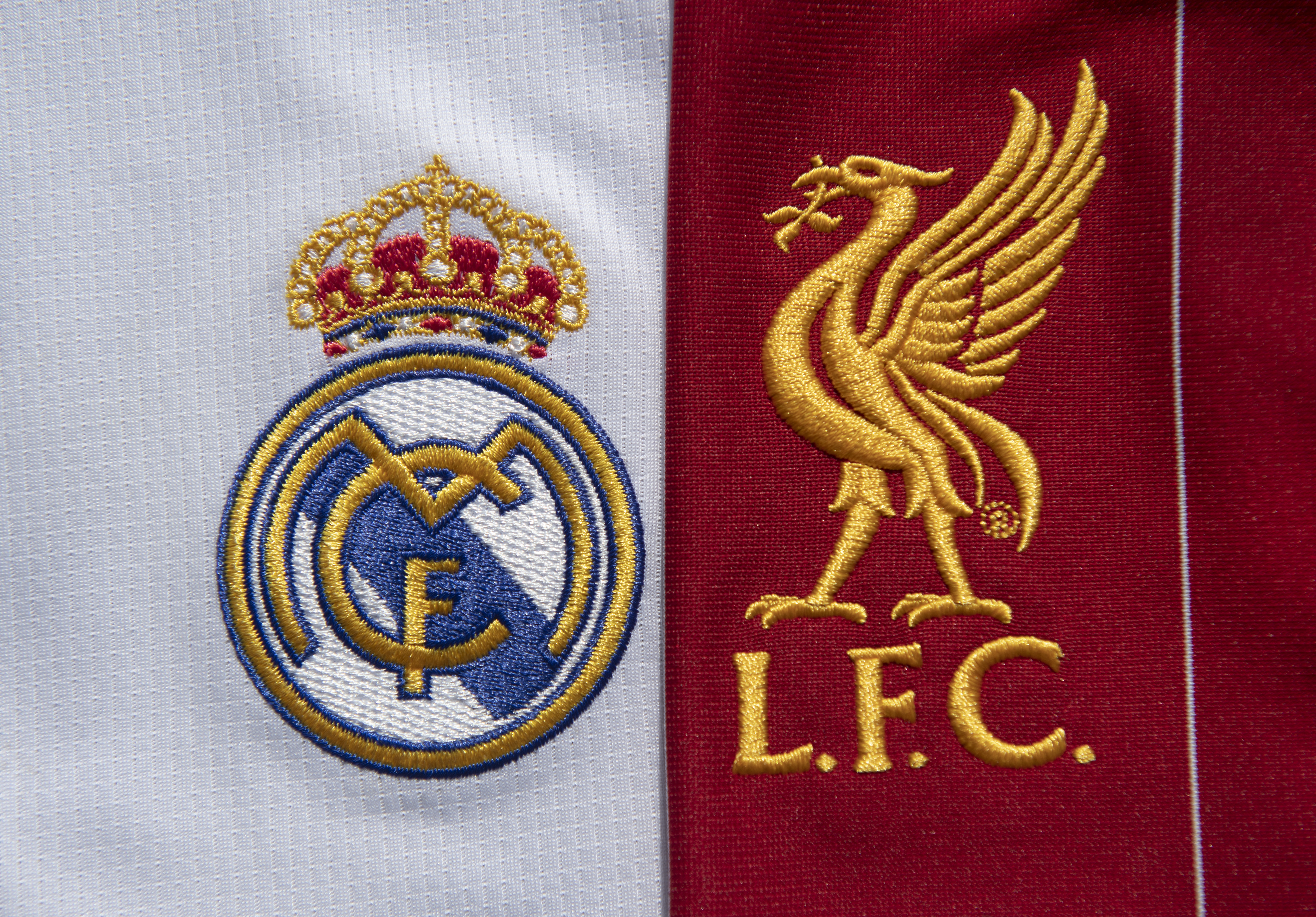 The Real Madrid and Liverpool FC Club Badges