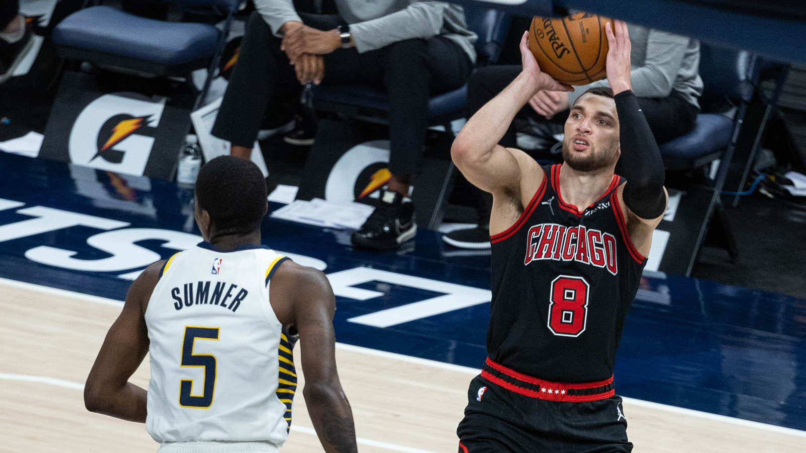 """I'm all about winning, and trying to get this team to be better so if that means me taking a lesser role some nights and my scoring goes down, I'm fine with that,'' the Bulls' Zach LaVine said."