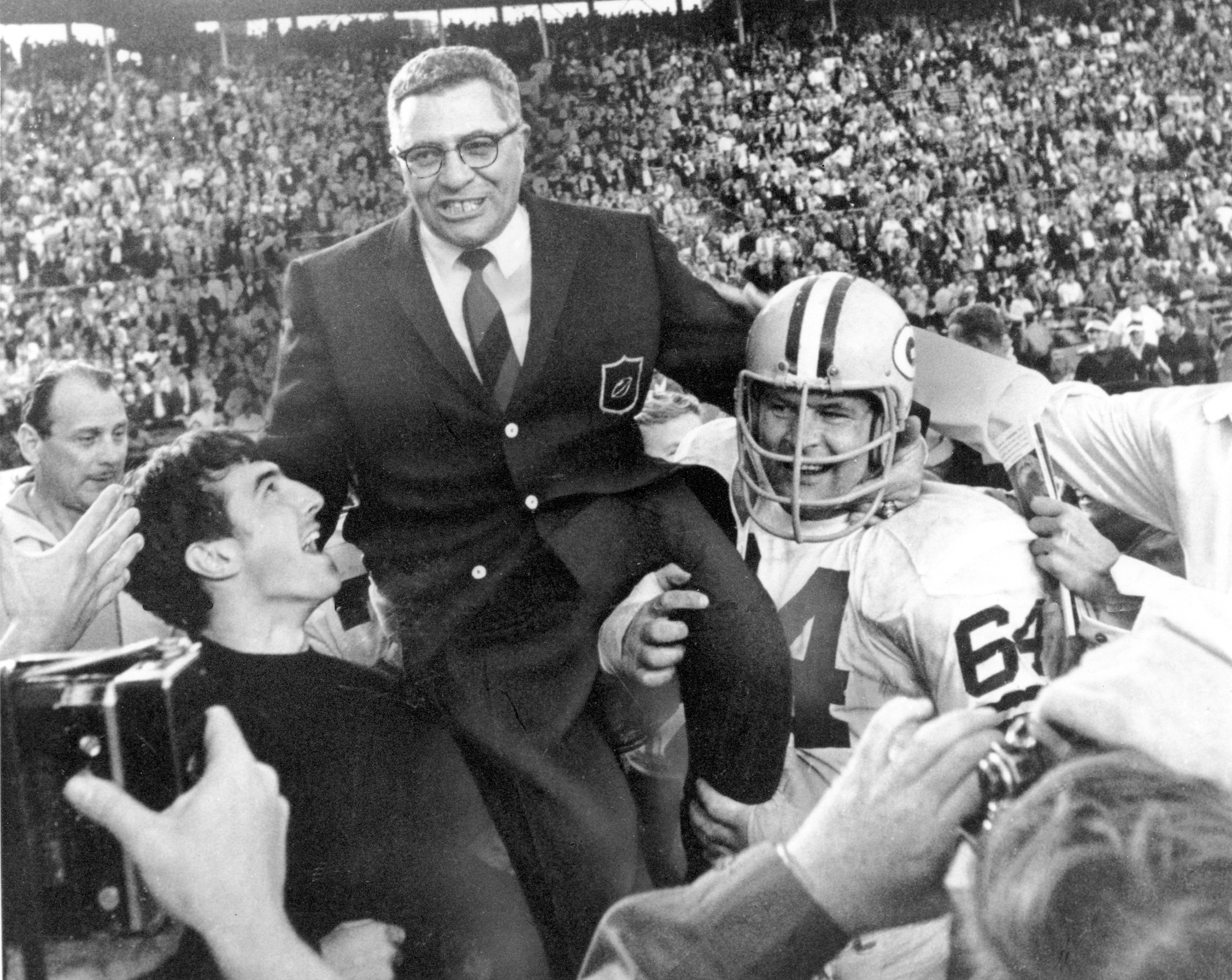Naturally late Packers coach Vince Lombardi would get a shoutout while Aaron Rodgers is serving as guest host.
