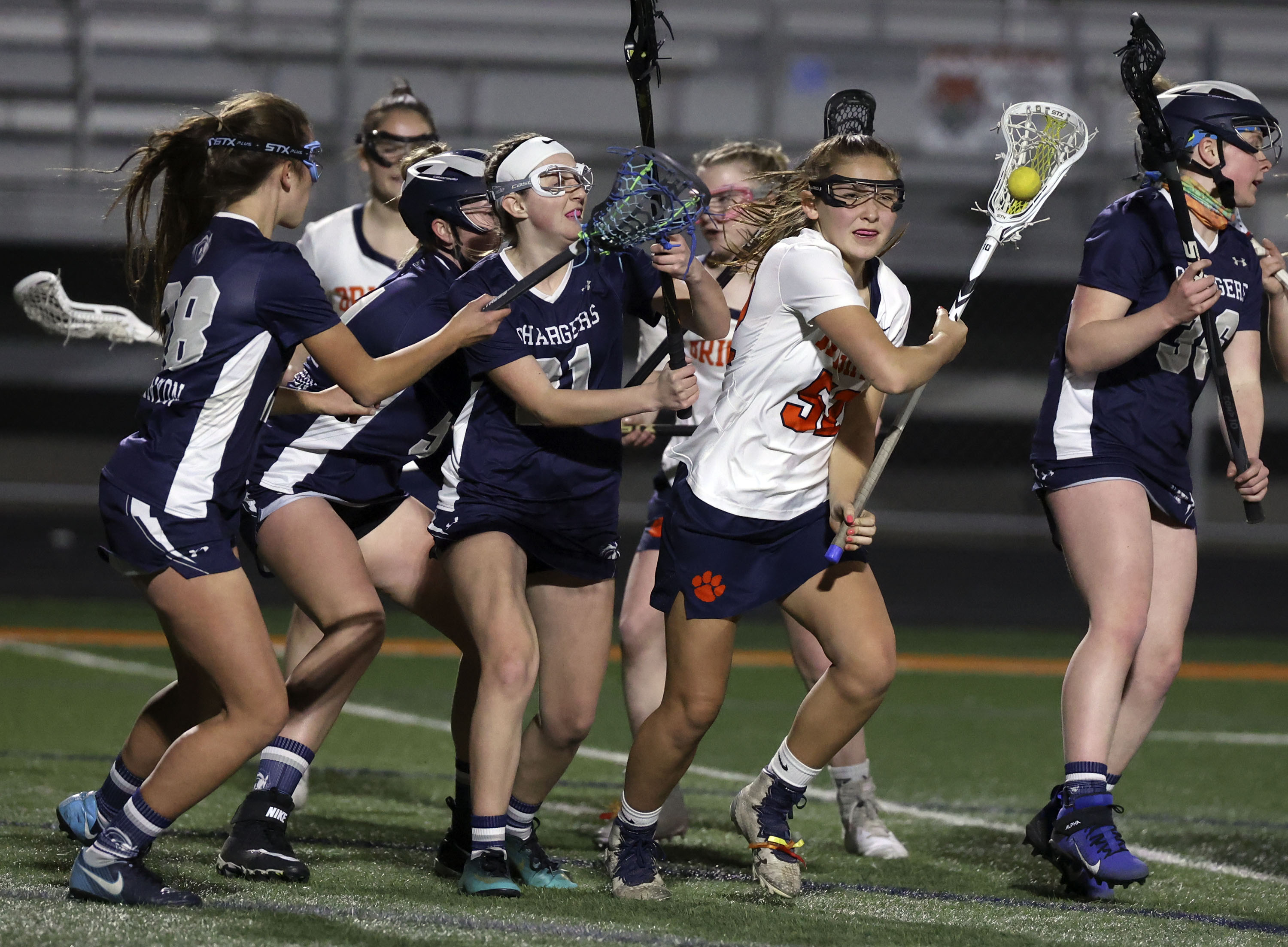 Brighton plays Corner Canyon in a girls lacrosse game at Brighton High School in Cottonwood Heights on Friday, March 19, 2021. Brighton won 16-6.
