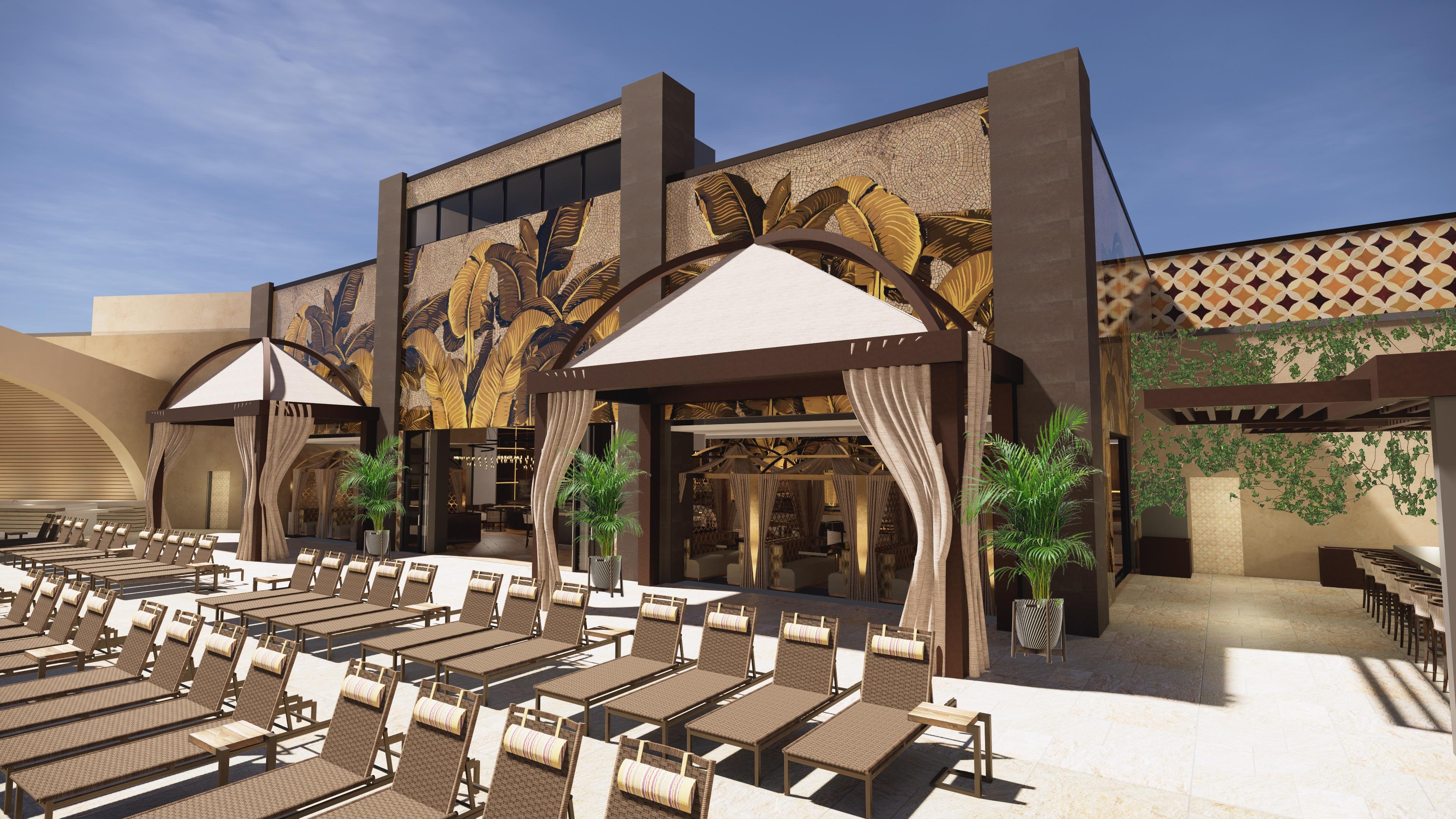 The bar at Azilo Ultra Pool