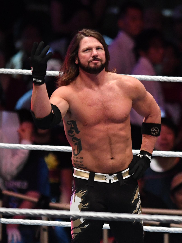 AJ Styles looks on during the WWE Live Tokyo at Ryogoku Kokugikan on June 29, 2019 in Tokyo, Japan.