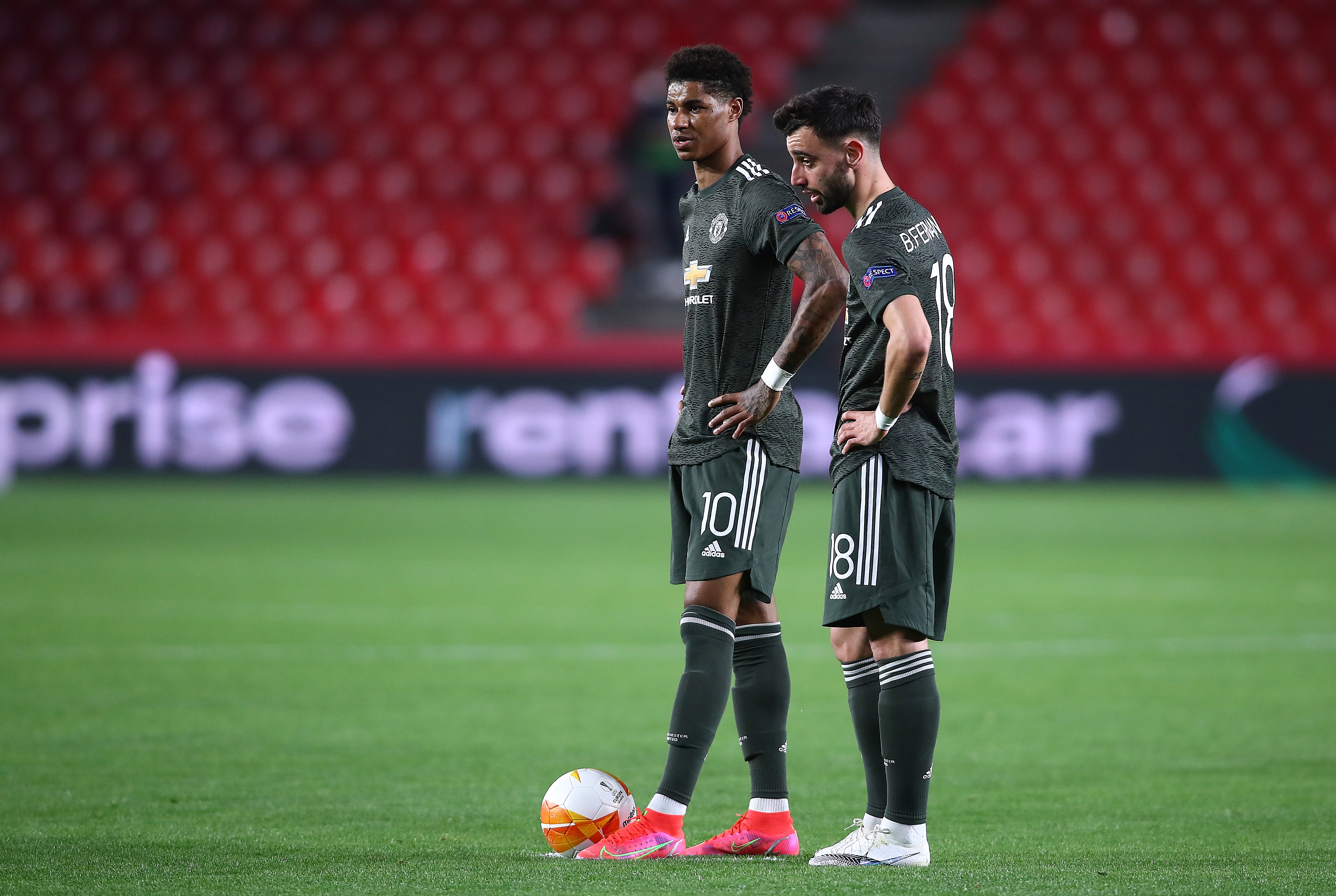 Marcus Rashford and Bruno Fernandes - Manchester United - Premier League