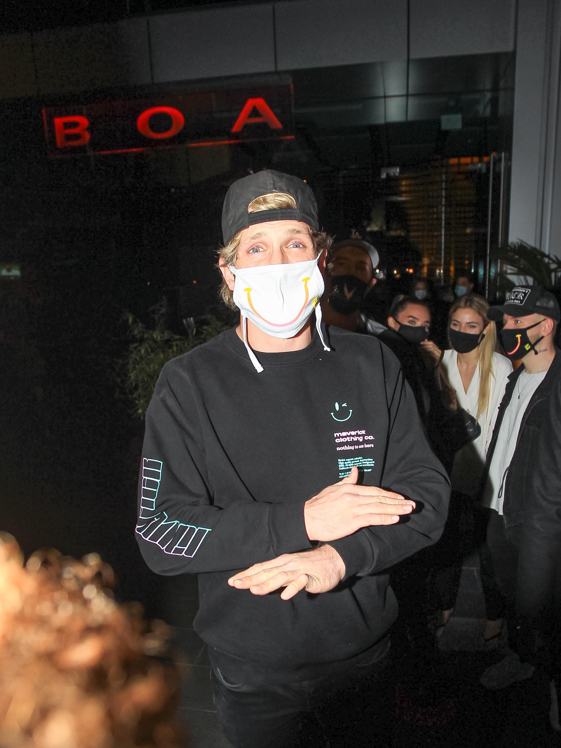 Logan Paul is seen on November 14, 2020 in Los Angeles, California.