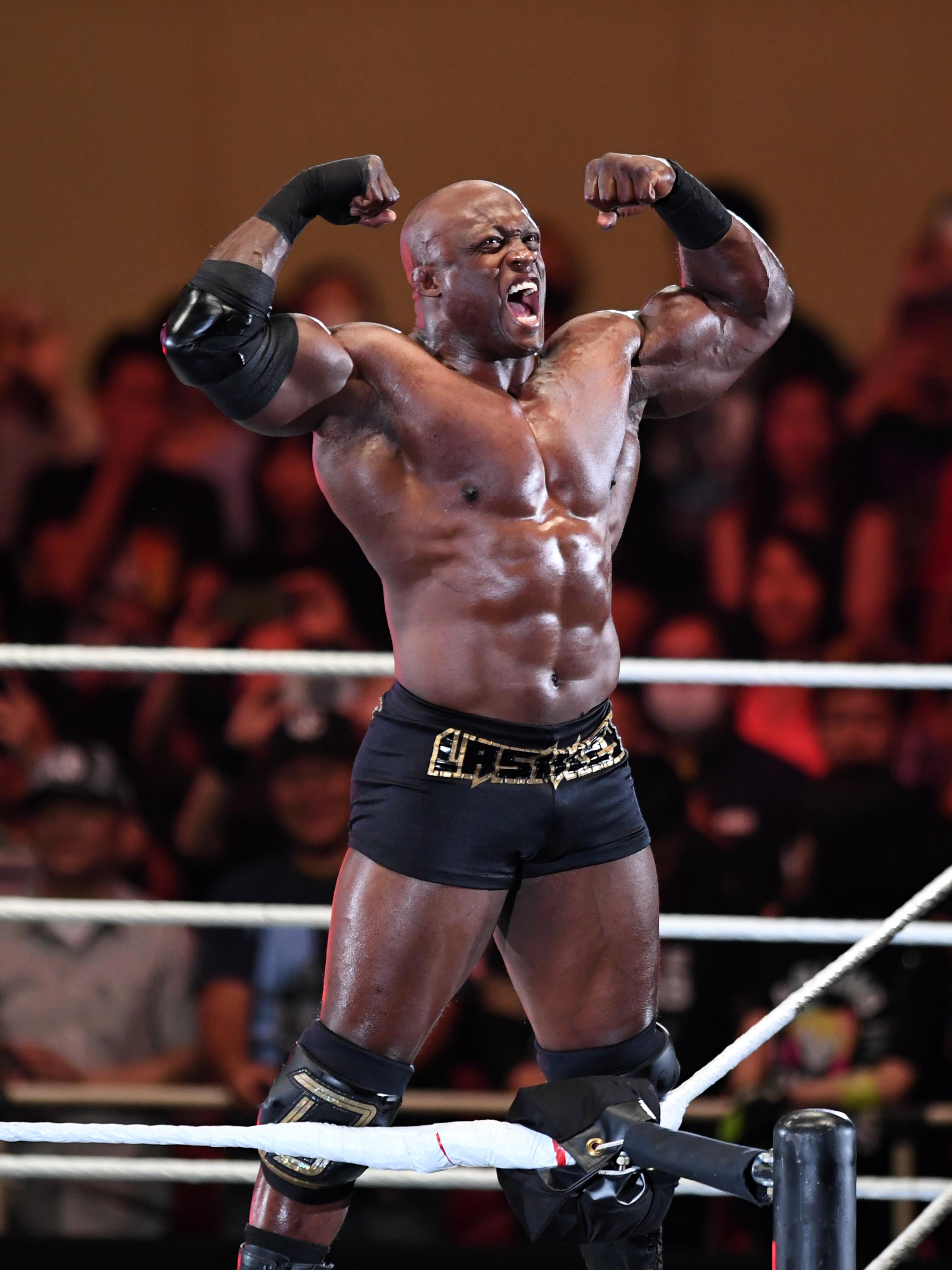 Bobby Lashley enters the ring during the WWE Live Tokyo at Ryogoku Kokugikan on June 29, 2019 in Tokyo, Japan.