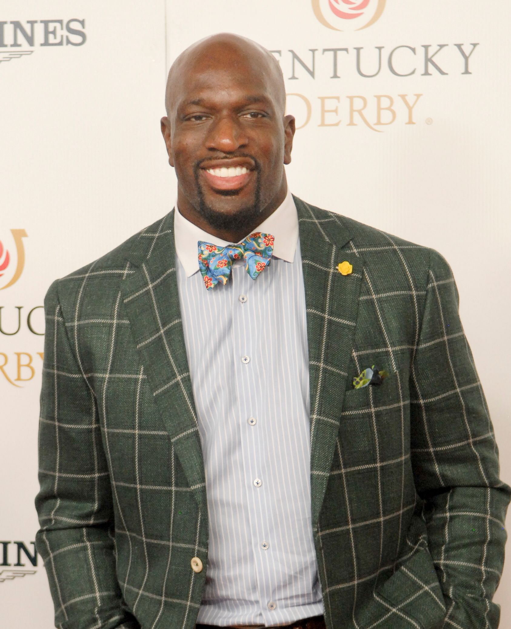 WWE Superstar Titus O'Neal walks the red carpet at the Kentucky Derby on May 4, 2019 Derby Celebrity 20.